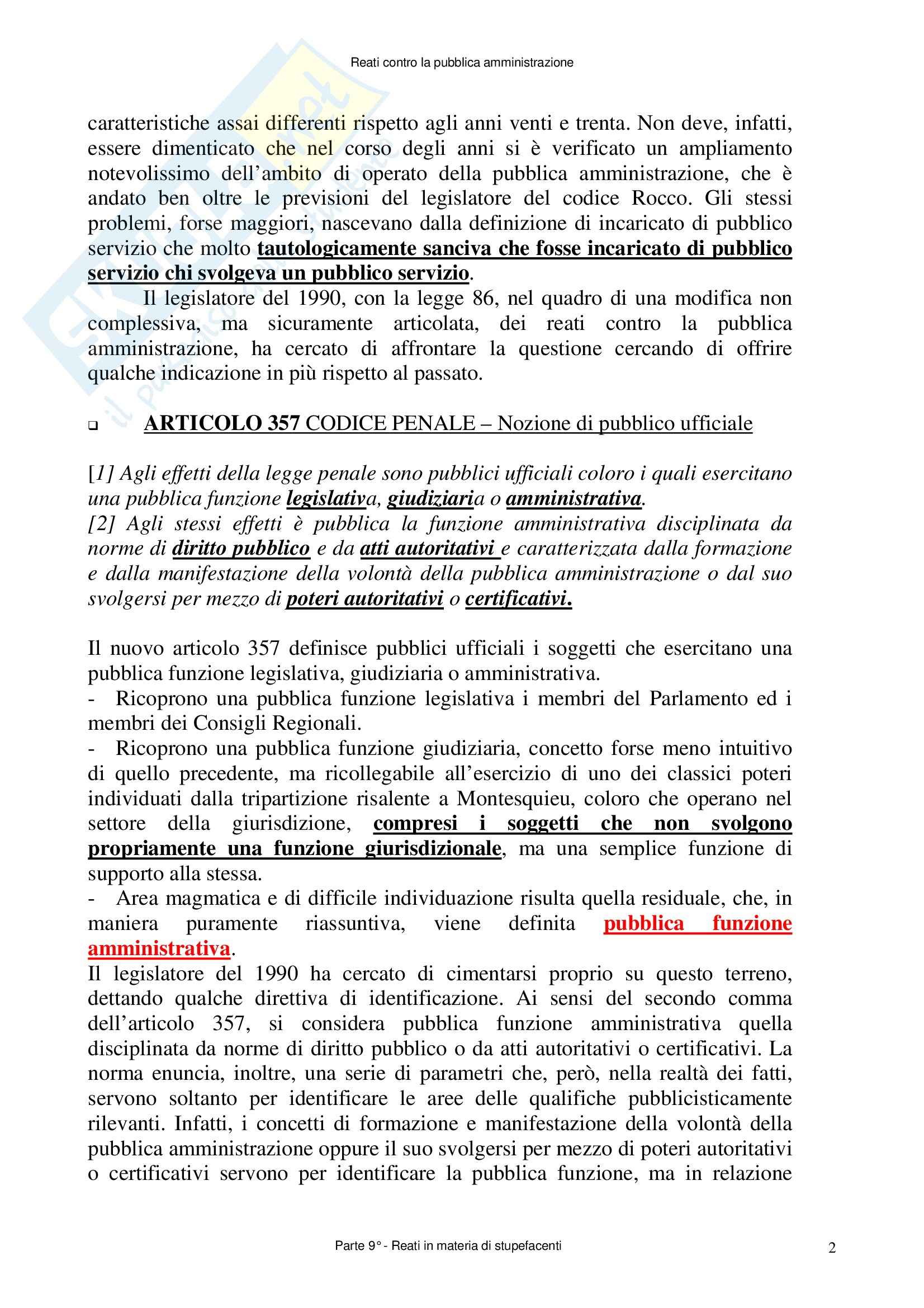Diritto penale - reati contro la Pubblica Amministrazione- Appunti Pag. 2