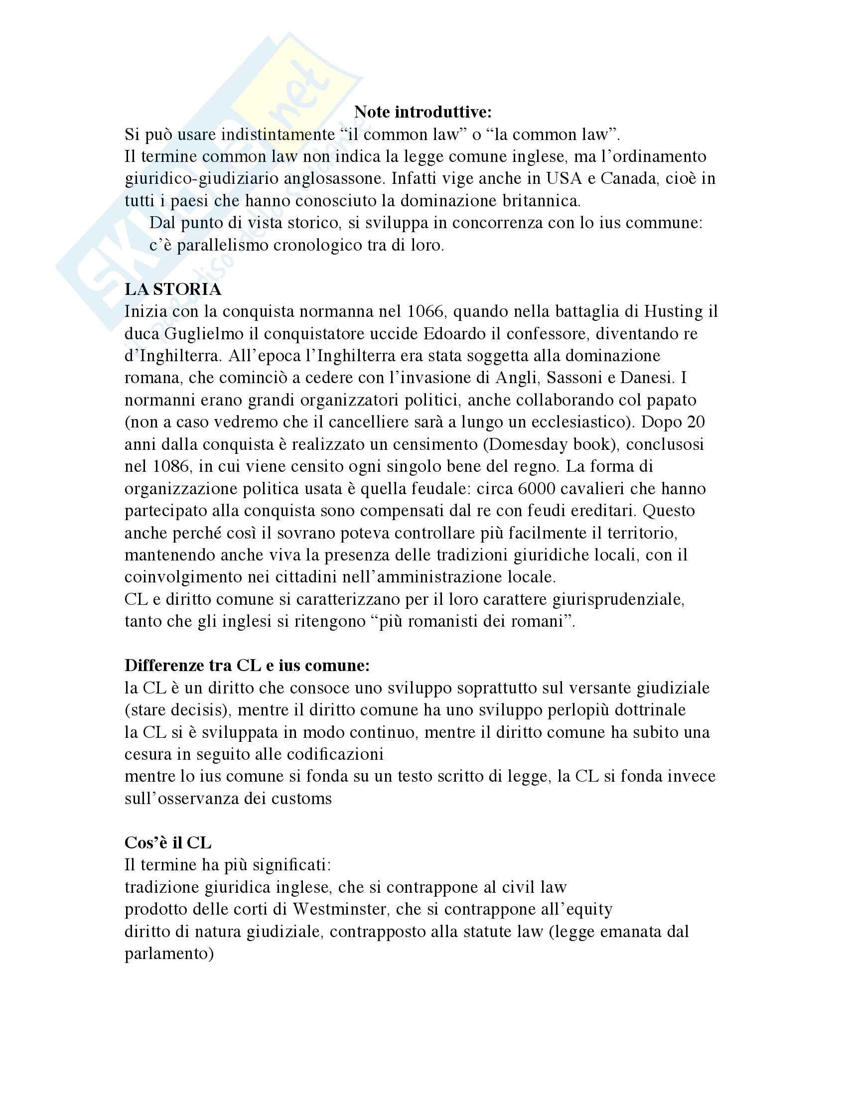 Storia del Diritto medievale e moderno Inglese Pag. 2
