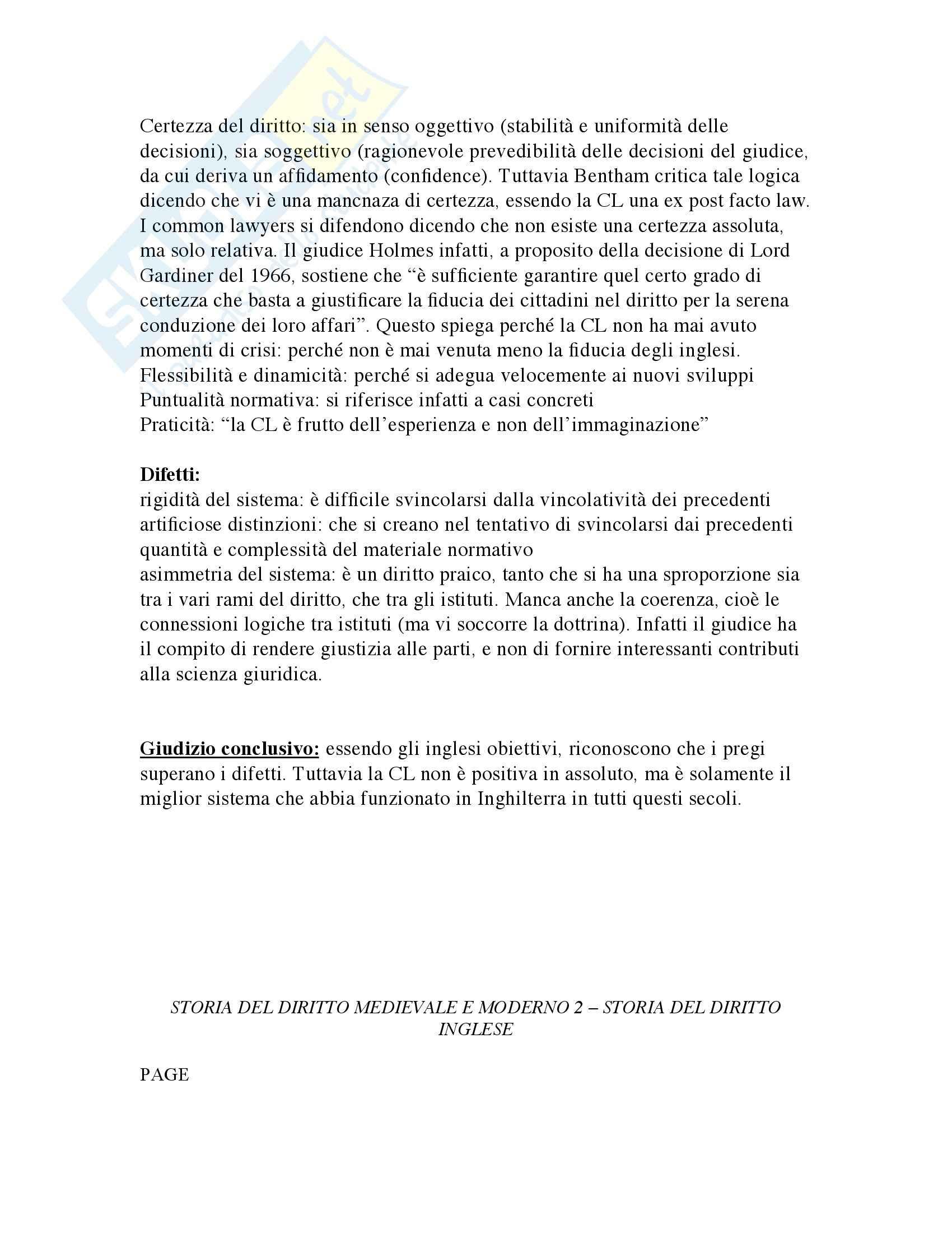 Storia del Diritto medievale e moderno Inglese Pag. 36