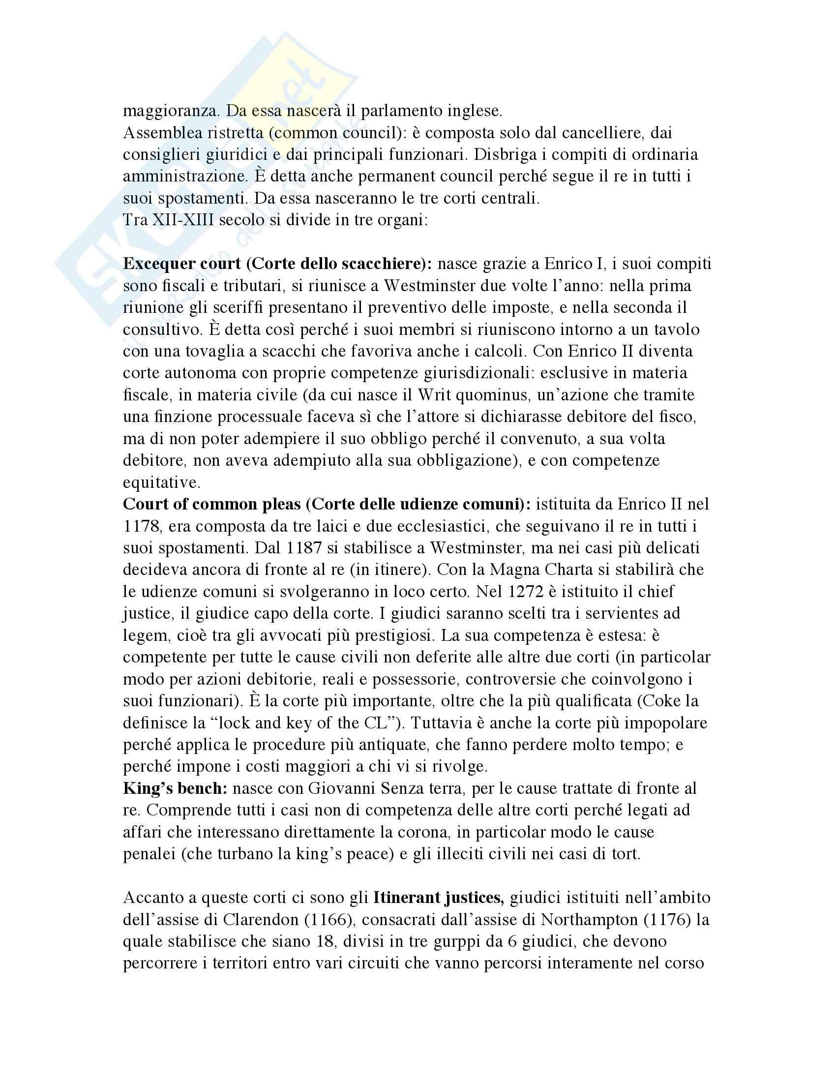Storia del Diritto medievale e moderno Inglese Pag. 6