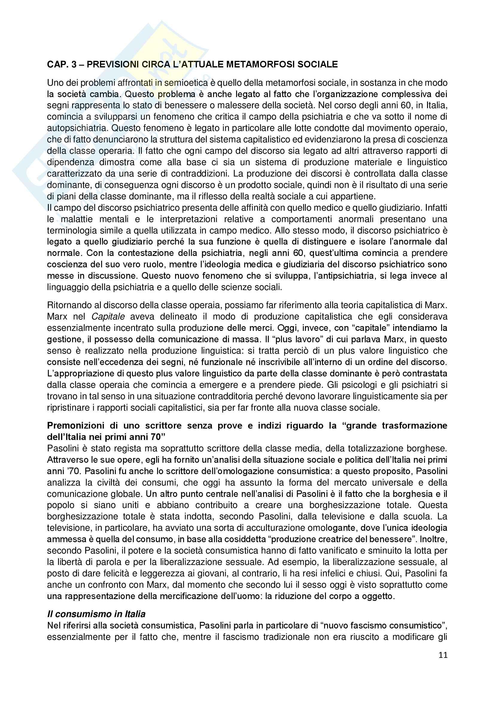Riassunto esame Semiotica, prof. Silvestri, libro consigliato Semioetica di Ponzio e Petrilli Pag. 11