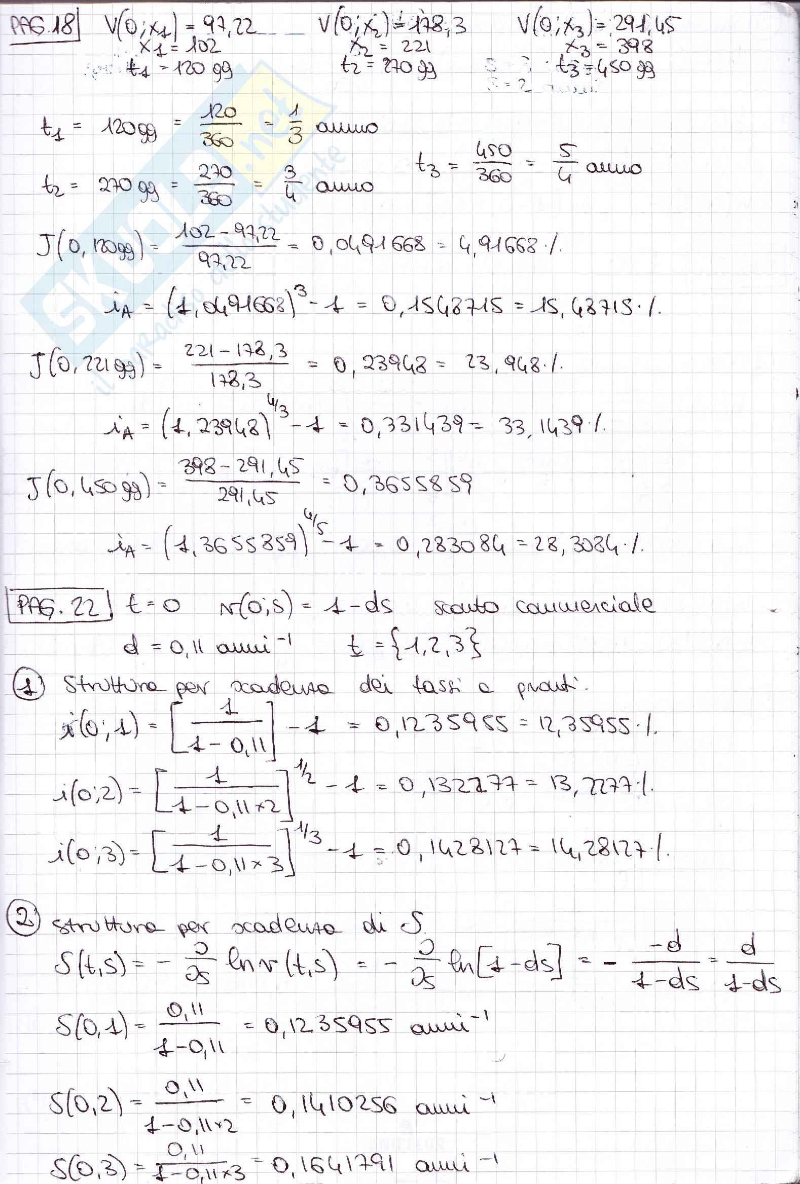 Esercizi matematica finanziaria Pag. 16