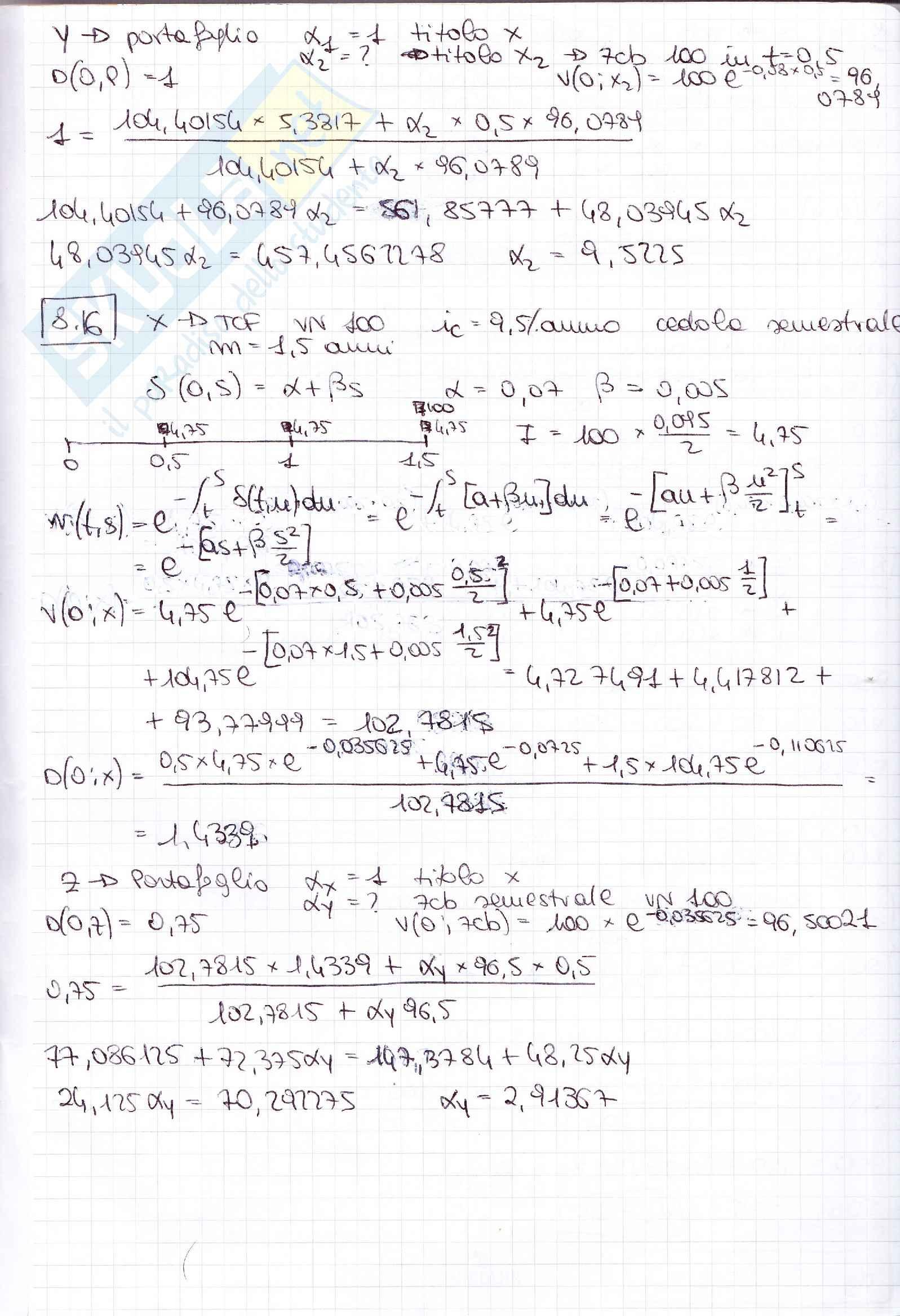 Esercizi matematica finanziaria Pag. 26