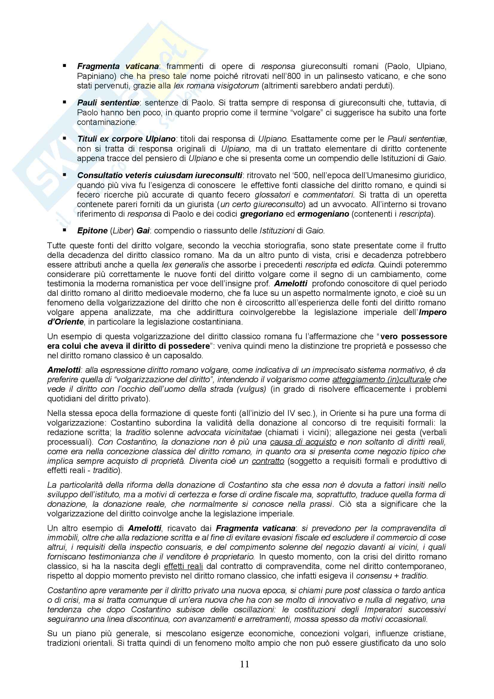 Storia del diritto italiano - lezioni Pag. 11