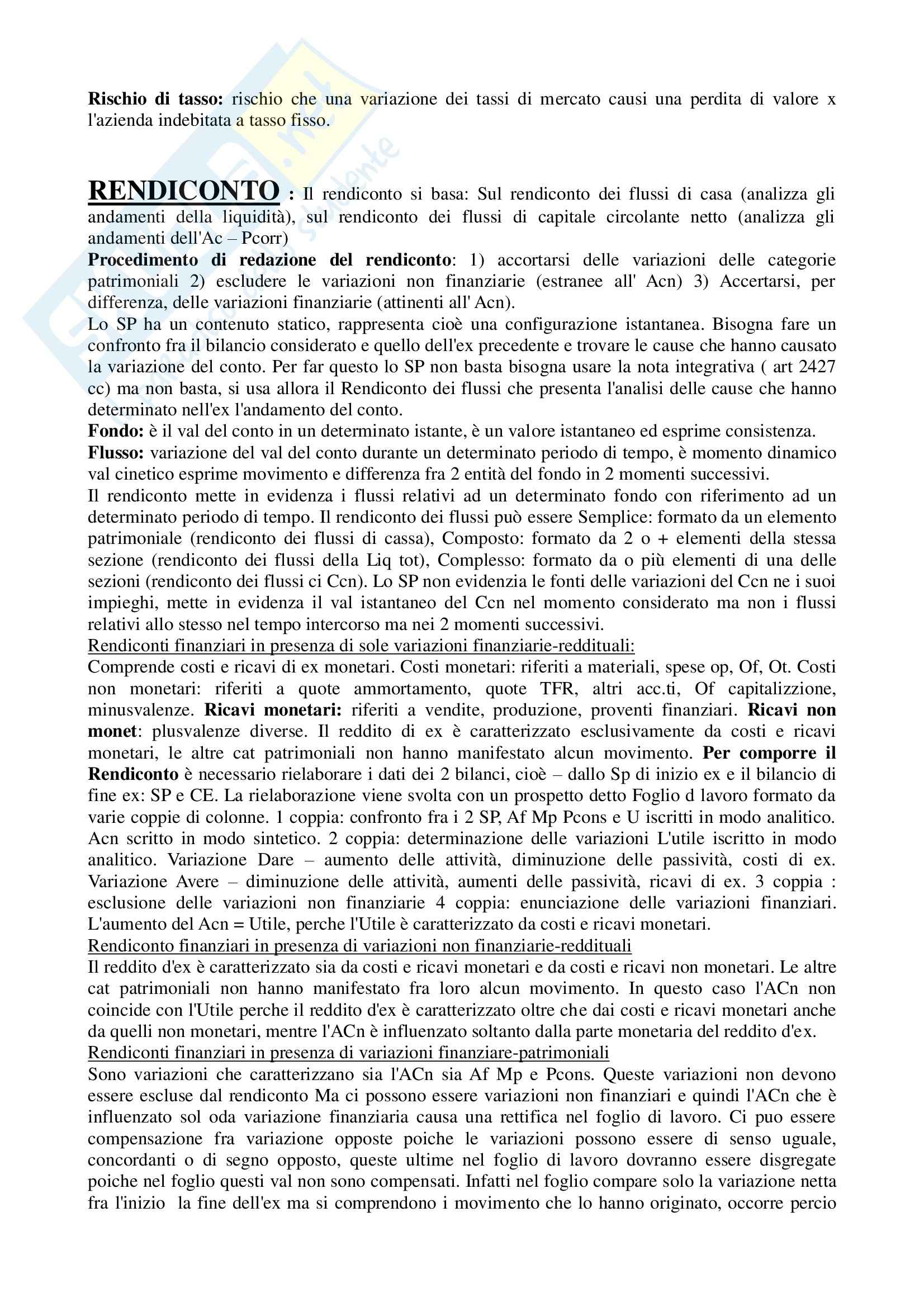 Riassunto esame Finanza aziendale, prof. Mazzei, libro consigliato Finanza aziendale, Dallocchio Pag. 6