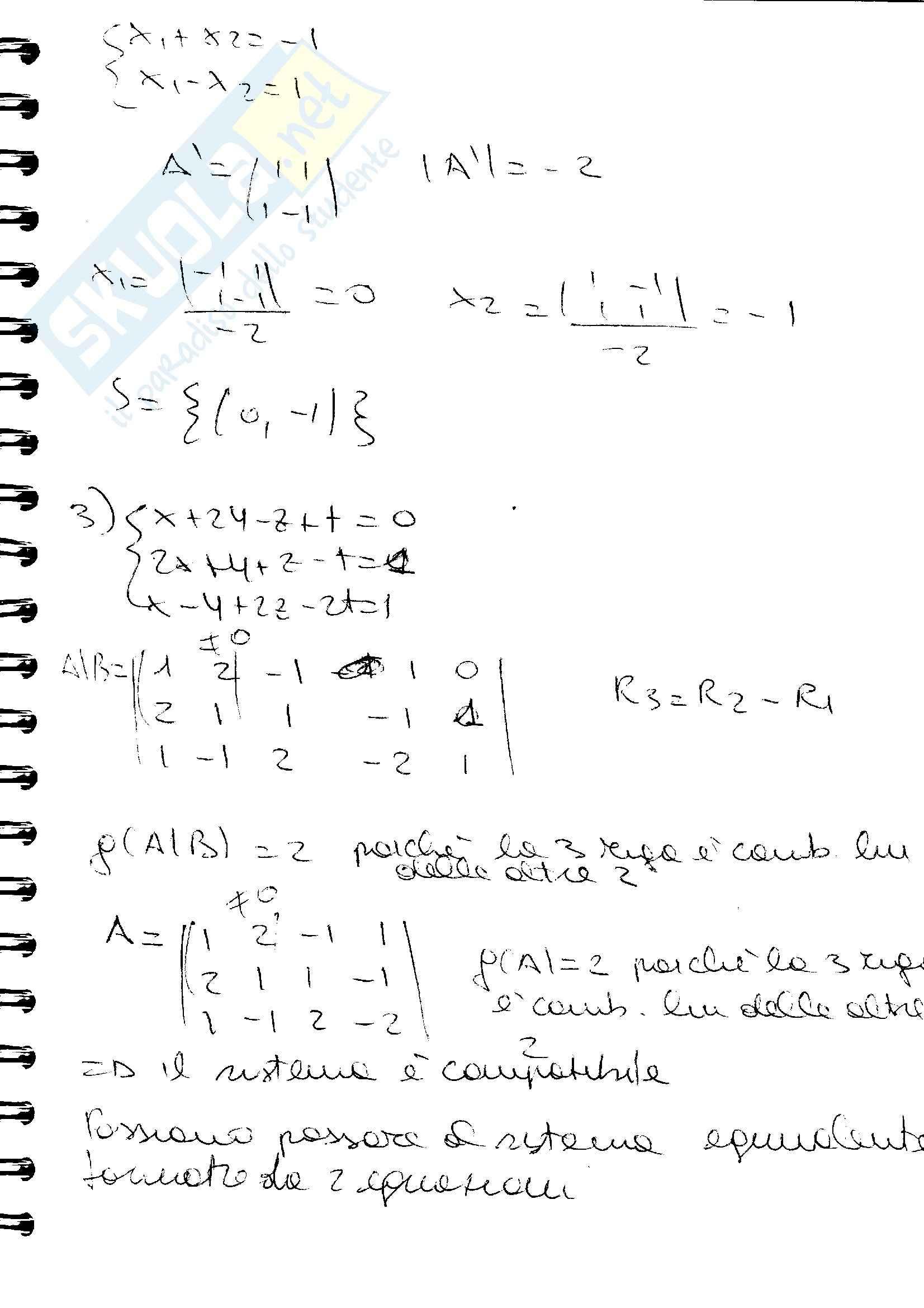 esercitazione G. Donati Algebra e Geometria