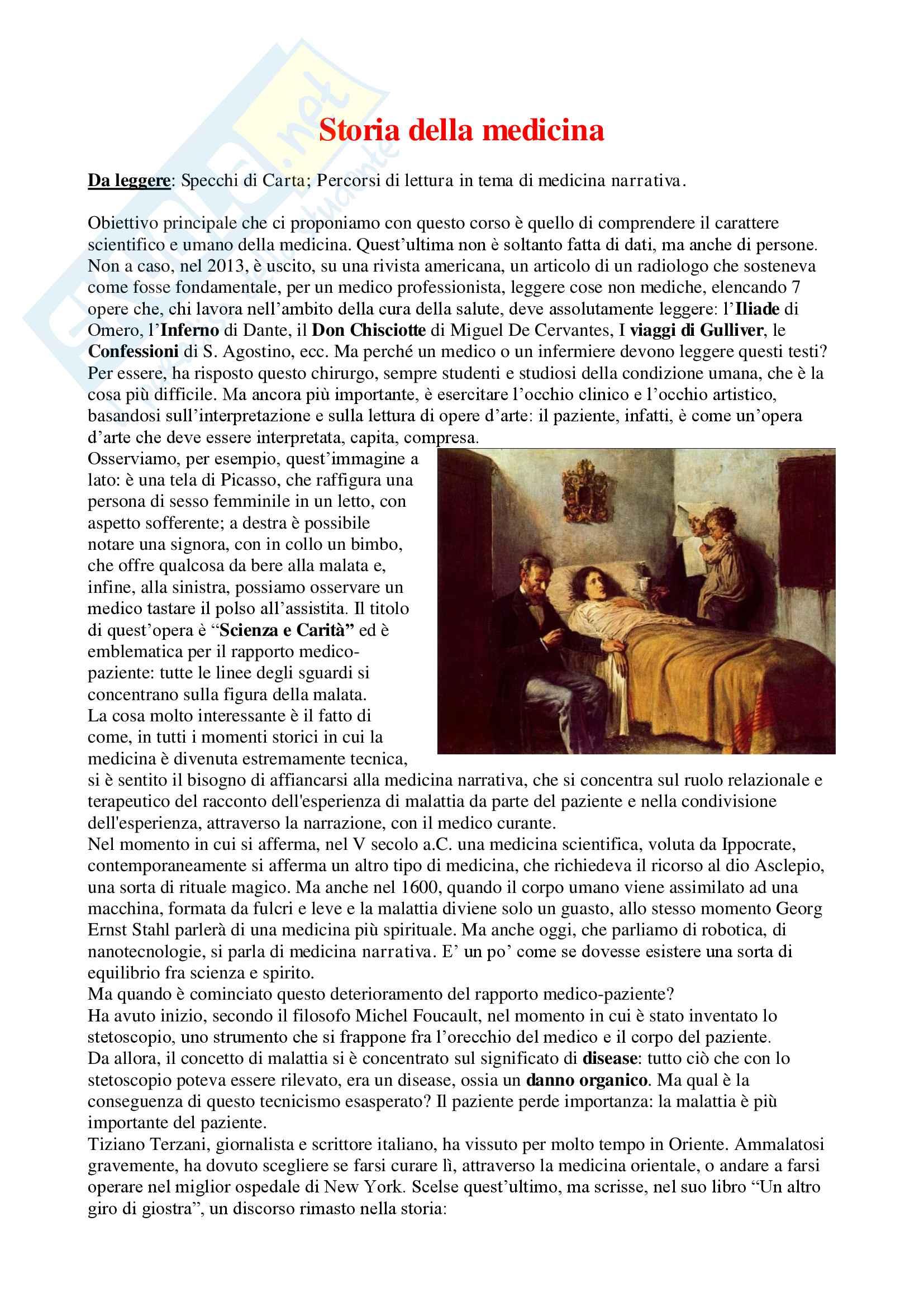 Storia Della Medicina - Appunti Completi