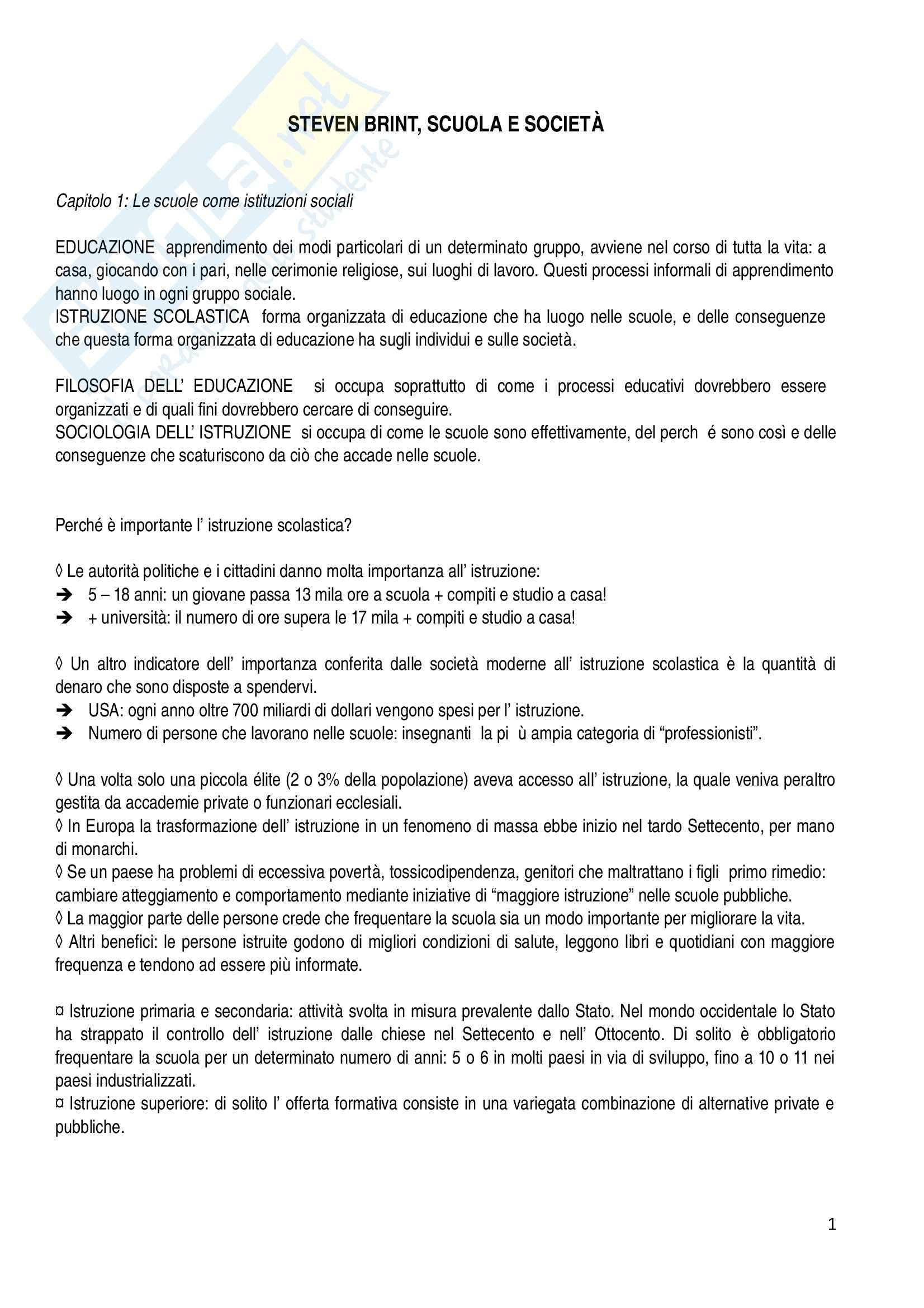 appunto A. Gaudio Storia della pedagogia