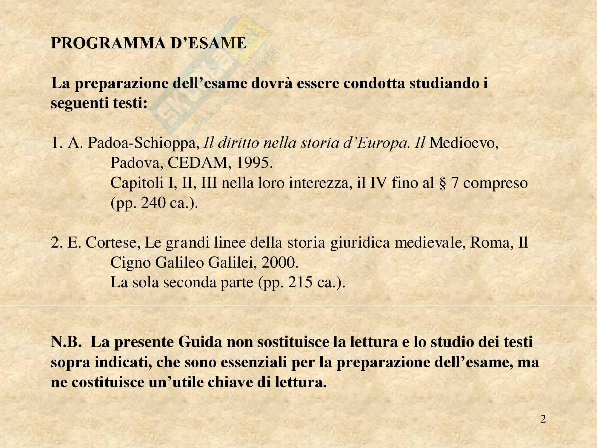Storia del diritto medievale e moderno - Appunti Pag. 2