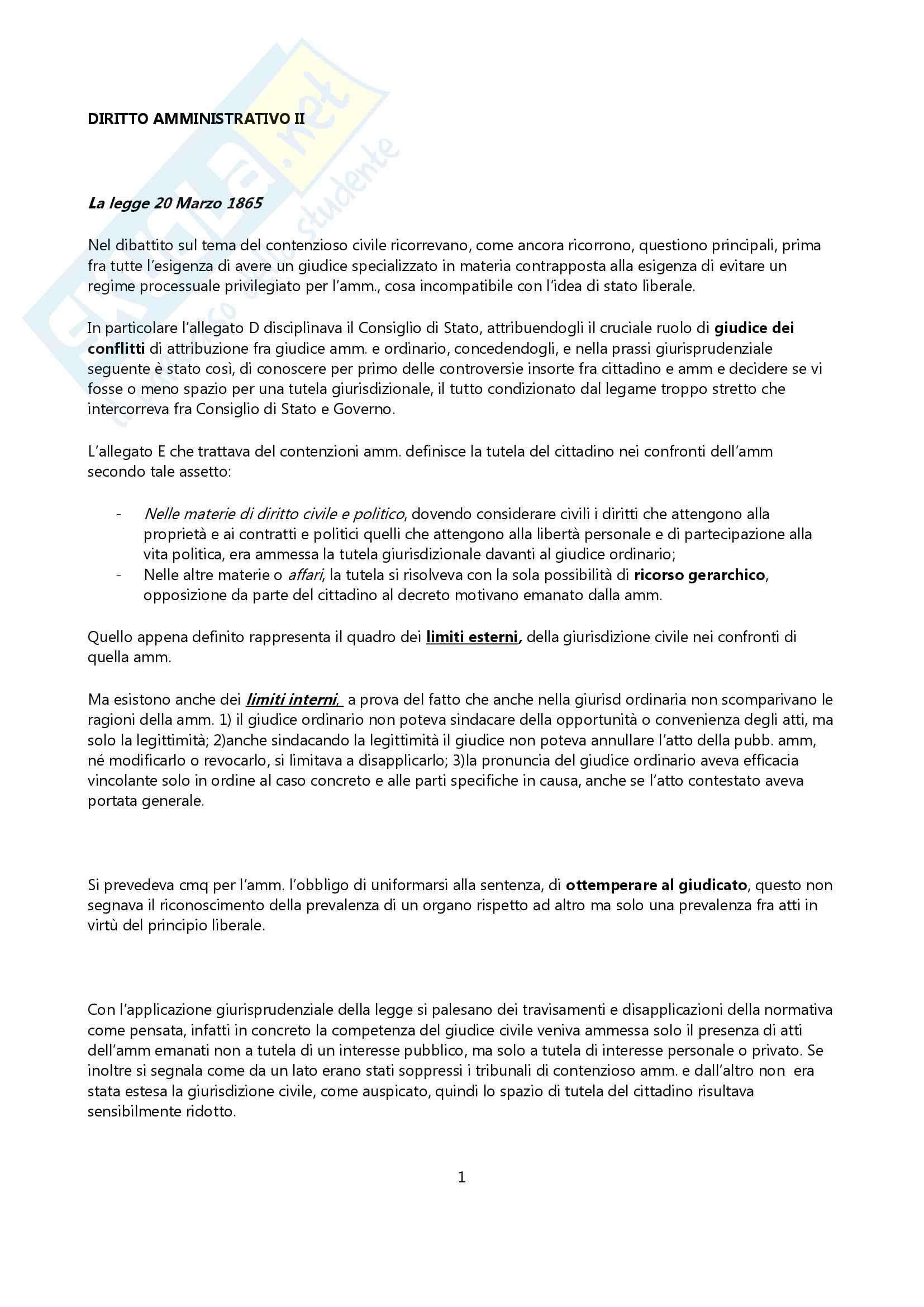 Diritto Amministrativo II