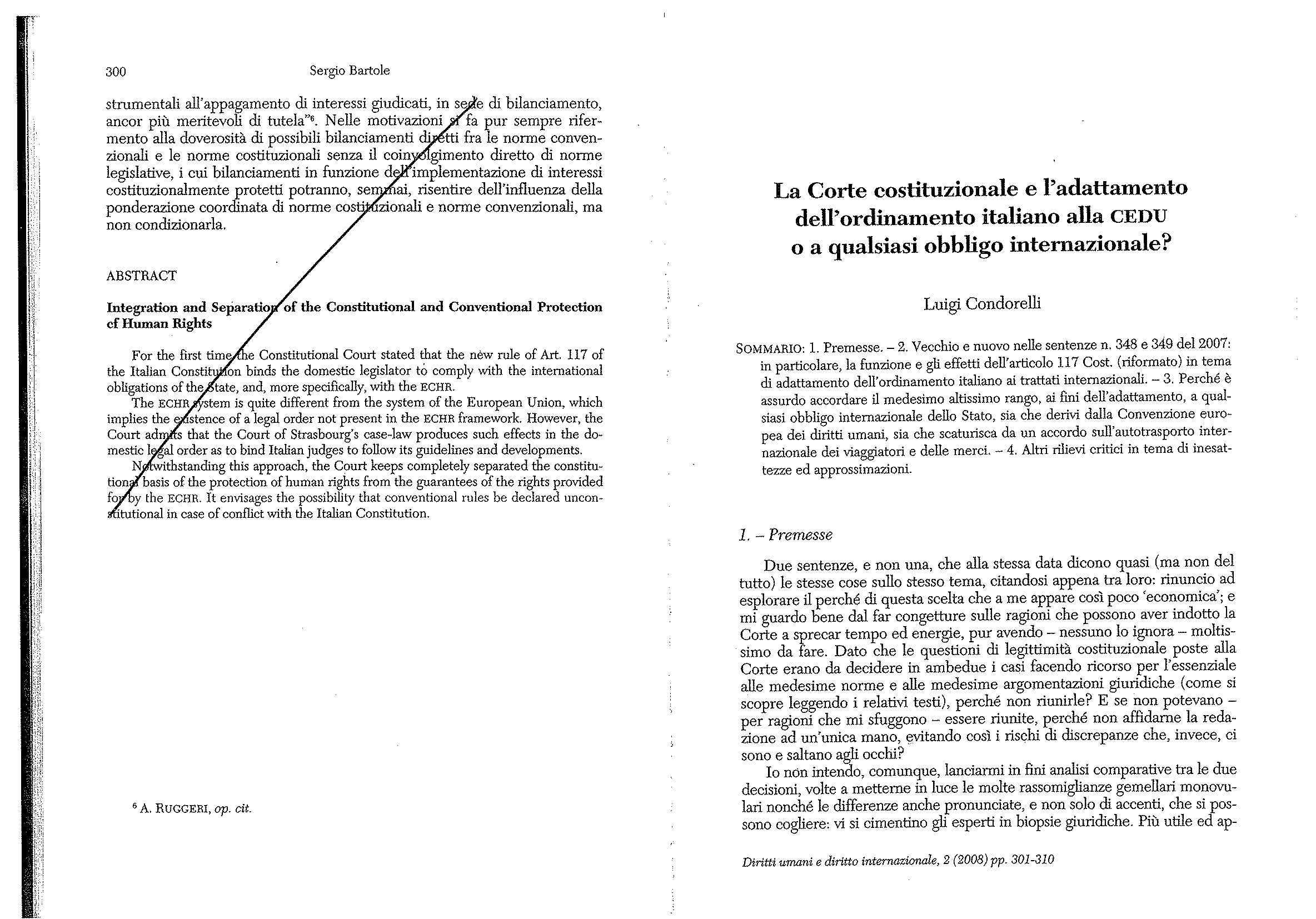 dispensa L. Condorelli Diritto Internazionale