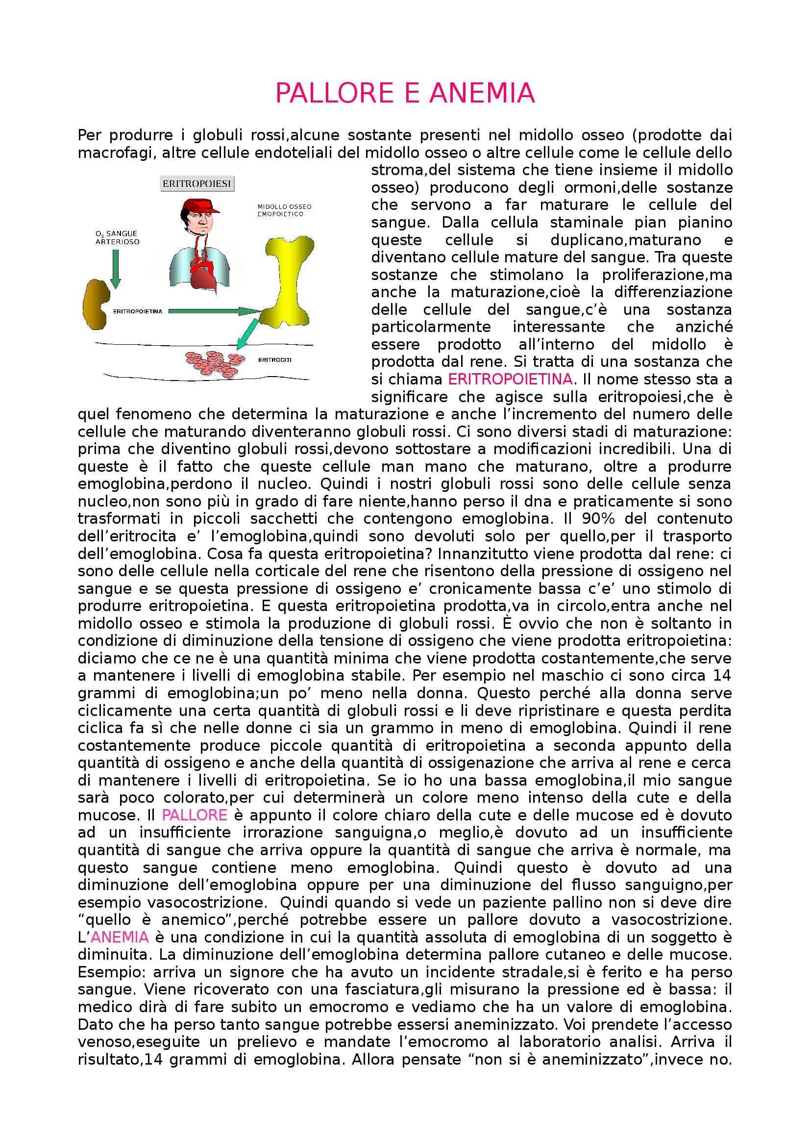 Medicina interna - pallore e anemia