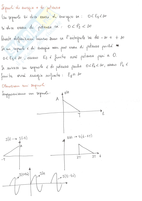 Appunti Teoria Dei Segnali Pag. 6