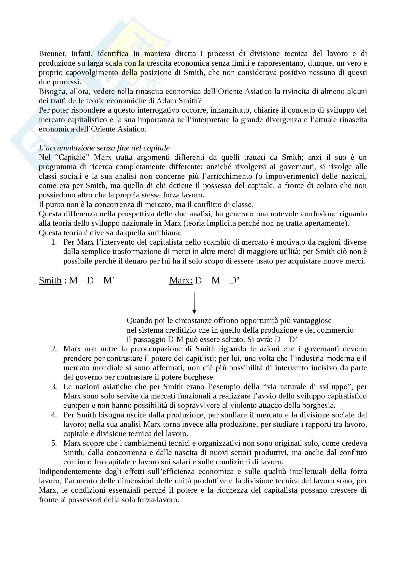 Riassunto esame Storia Contemporanea, prof. Mantelli, libro consigliato Adam Smith a Pechino, Arrighi Pag. 6