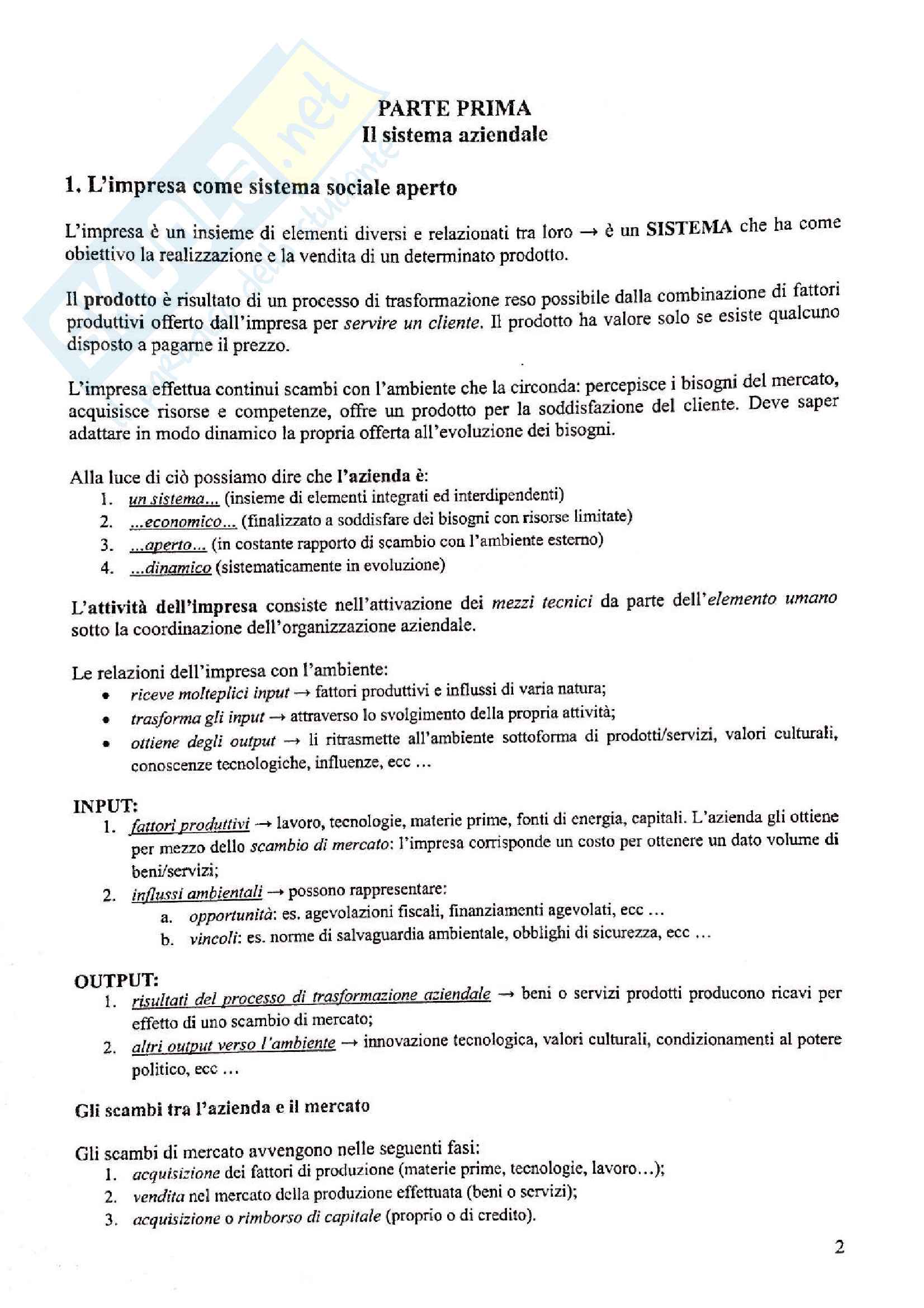 Appunti di economia aziendale, prof. Biancone Pag. 2