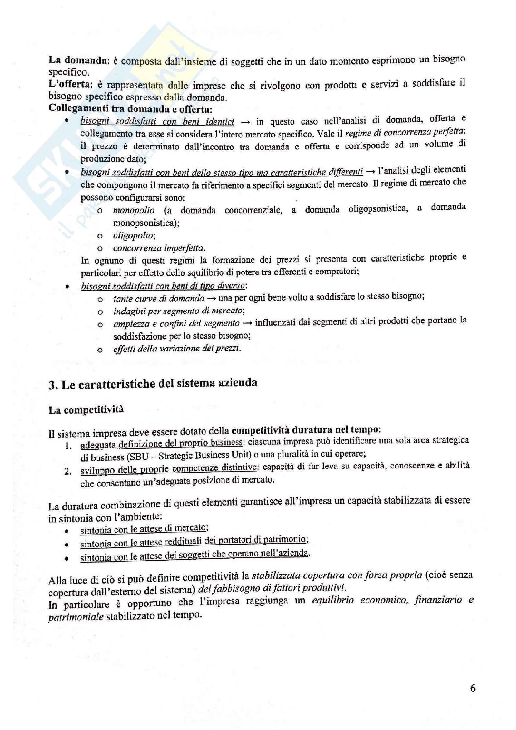 Appunti di economia aziendale, prof. Biancone Pag. 6