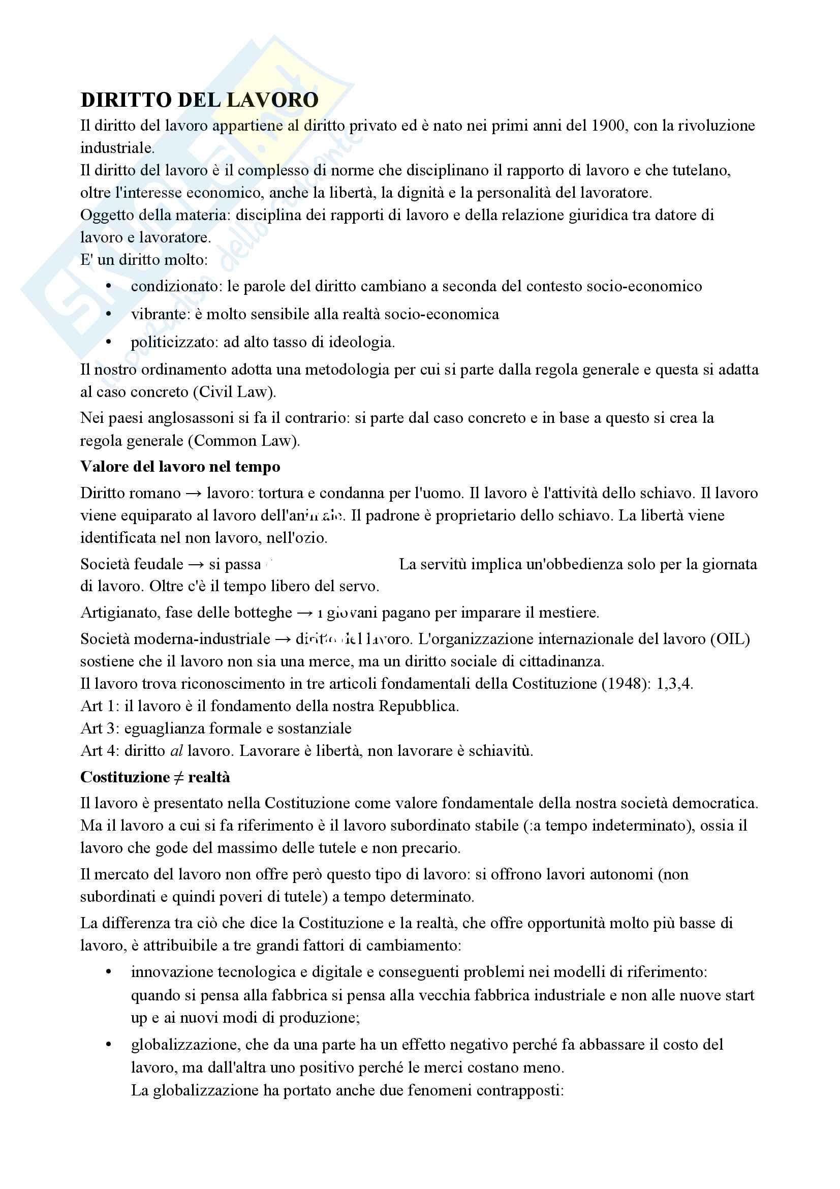 Diritto del lavoro (economia)
