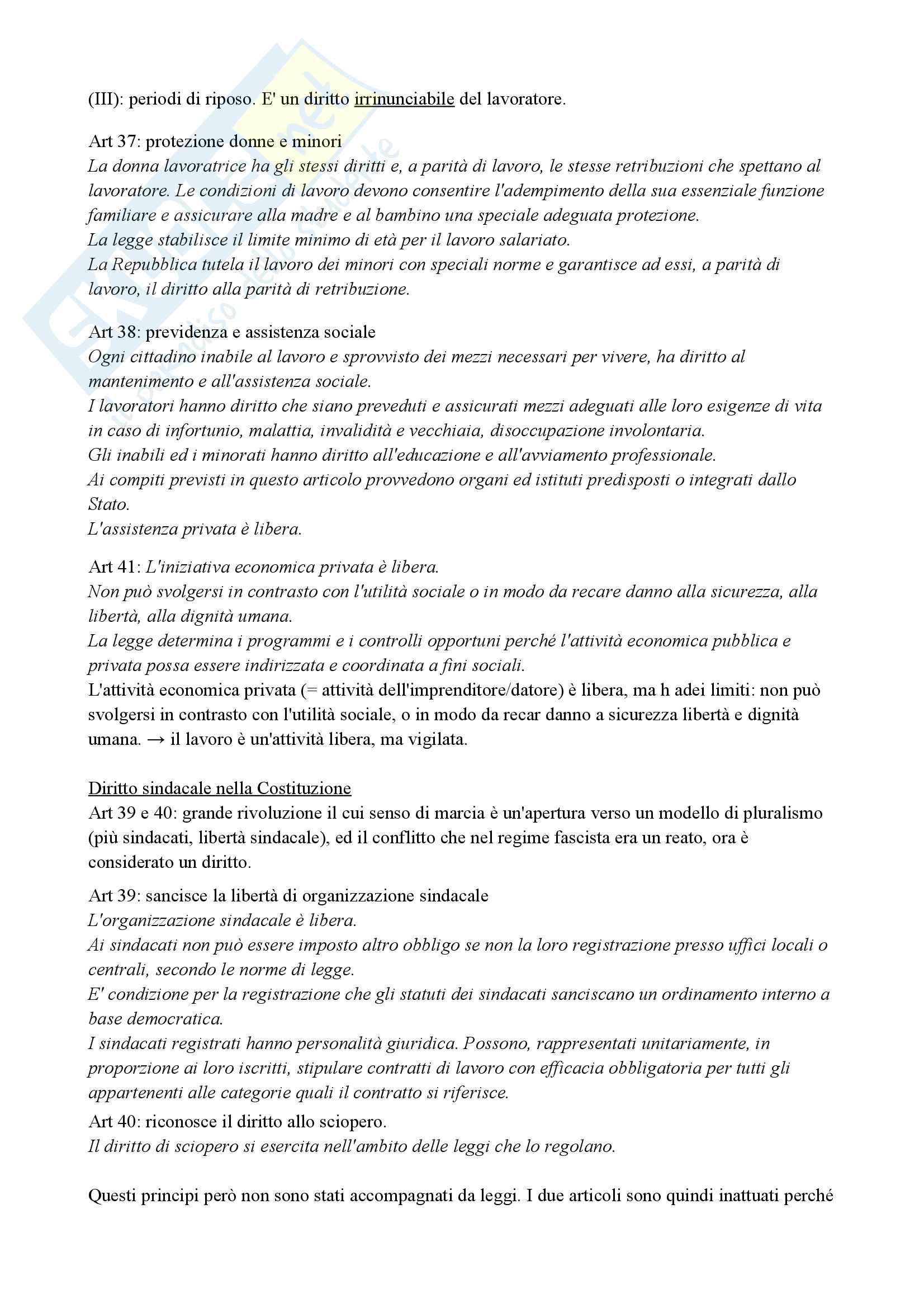 Diritto del lavoro (economia) Pag. 6