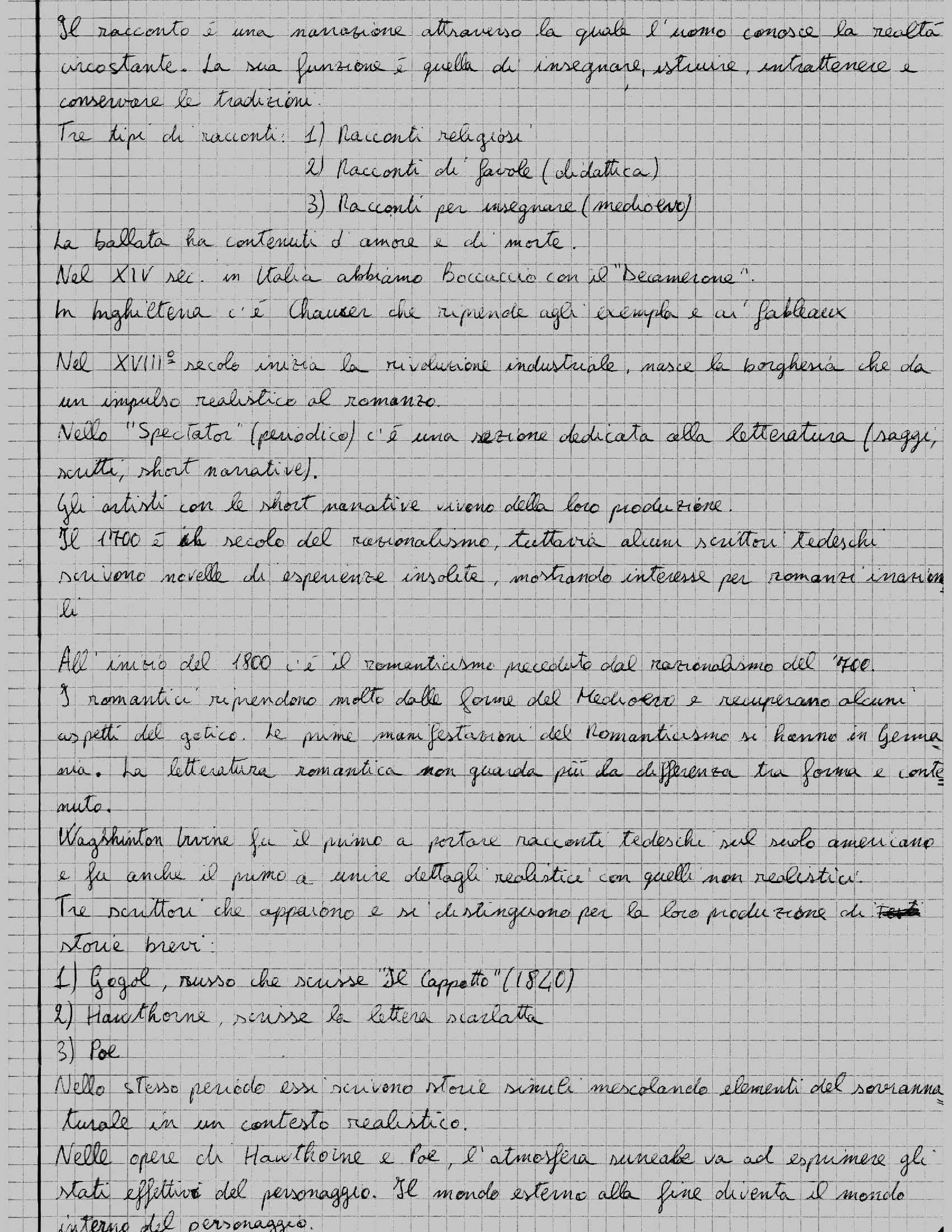 Letteratura inglese - Appunti