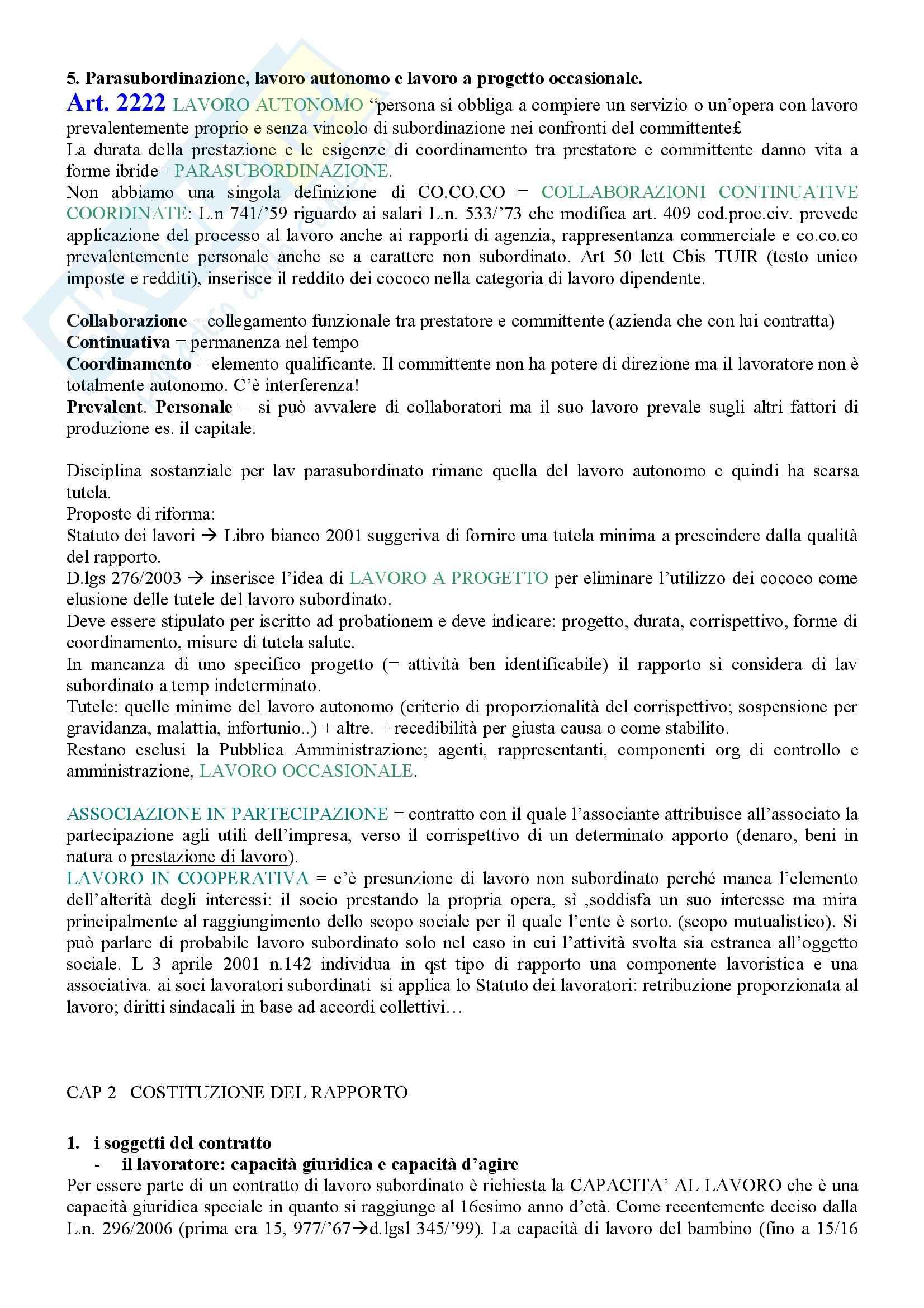 Diritto del lavoro – Schemi Pag. 2