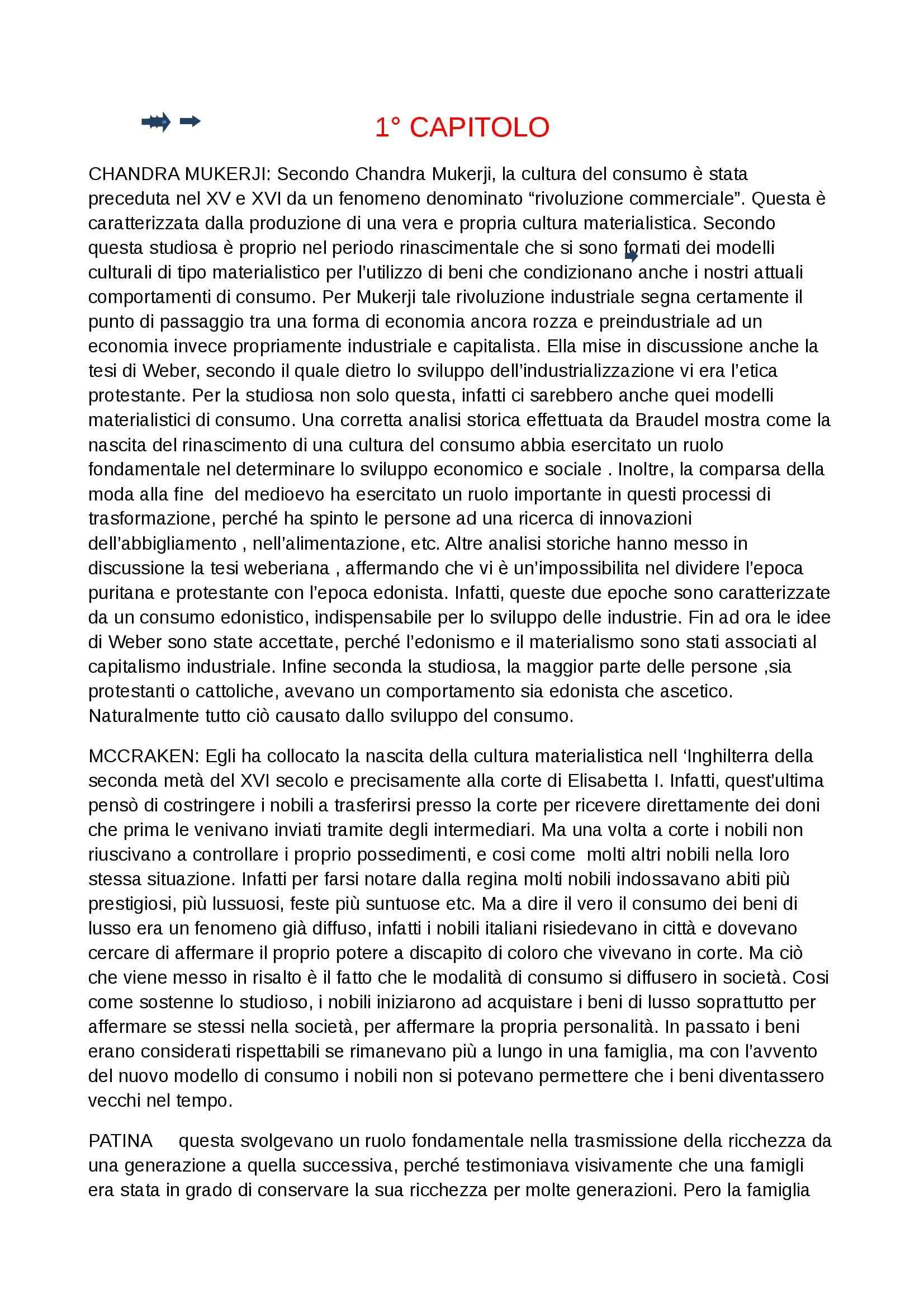 Riassunto esame Consumi e cultura d'impresa, prof. Ferraresi, libro consigliato Manuale di sociologia dei consumi, Codeluppi