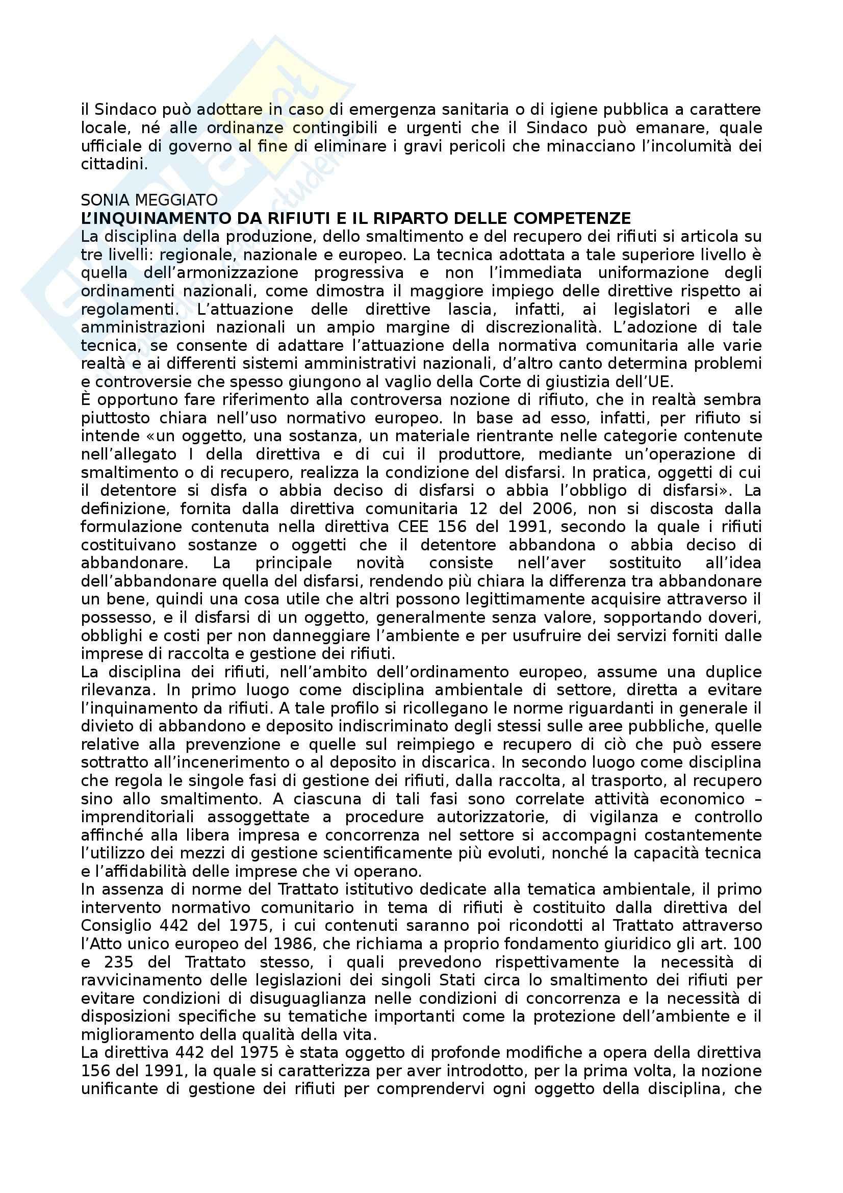 Riassunto esame Diritto Amministrativo, prof. Mastrangelo, libro consigliato Appunti sulla tutela amministrativa dagli inquinamenti ambientali Pag. 31