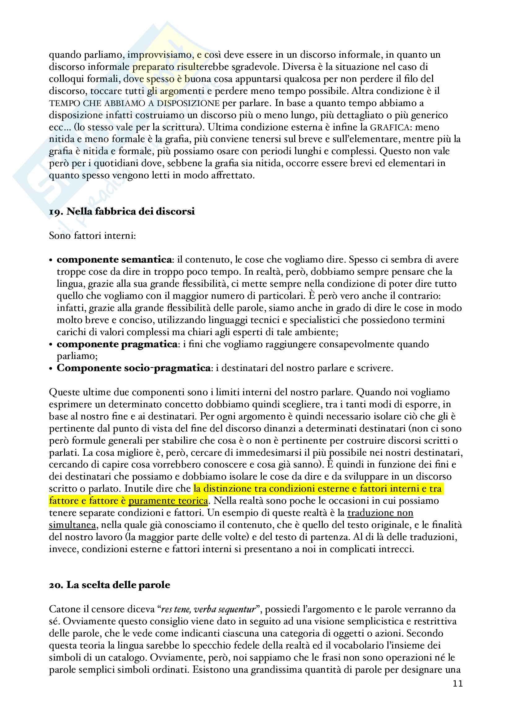 Appunti Guida all'uso delle parole, Semiotica Pag. 11