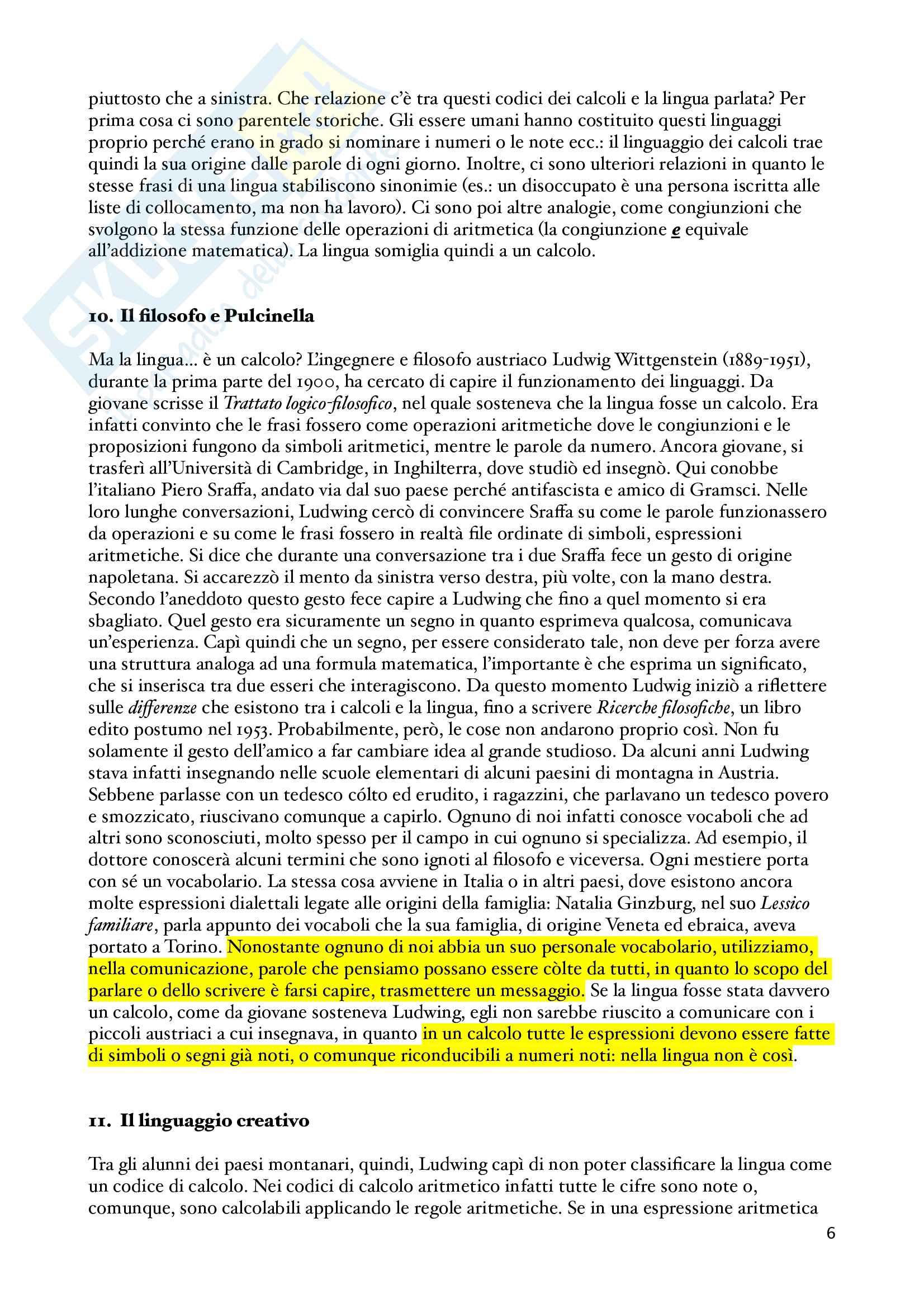 Appunti Guida all'uso delle parole, Semiotica Pag. 6