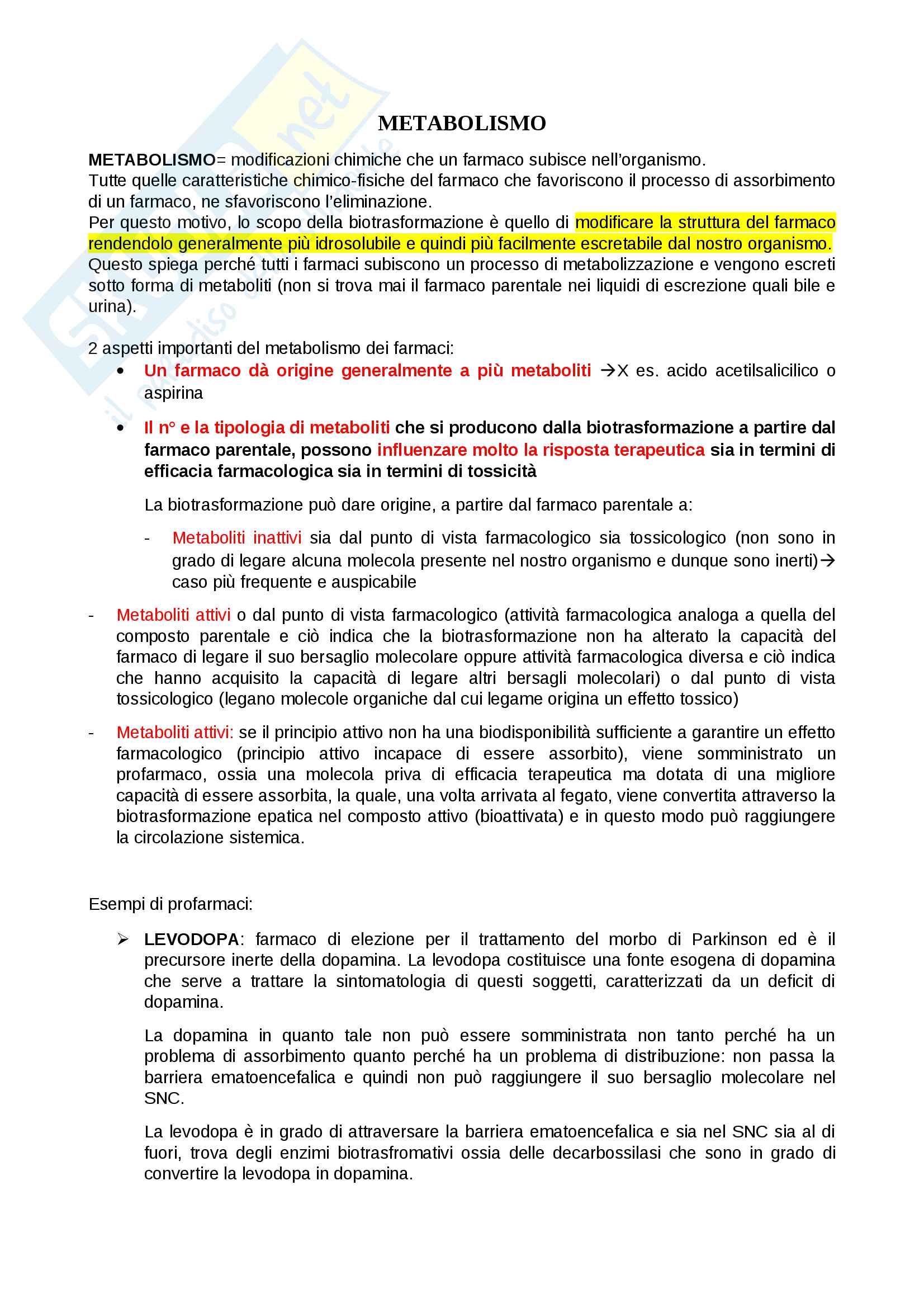 appunto B. Costa Farmacologia