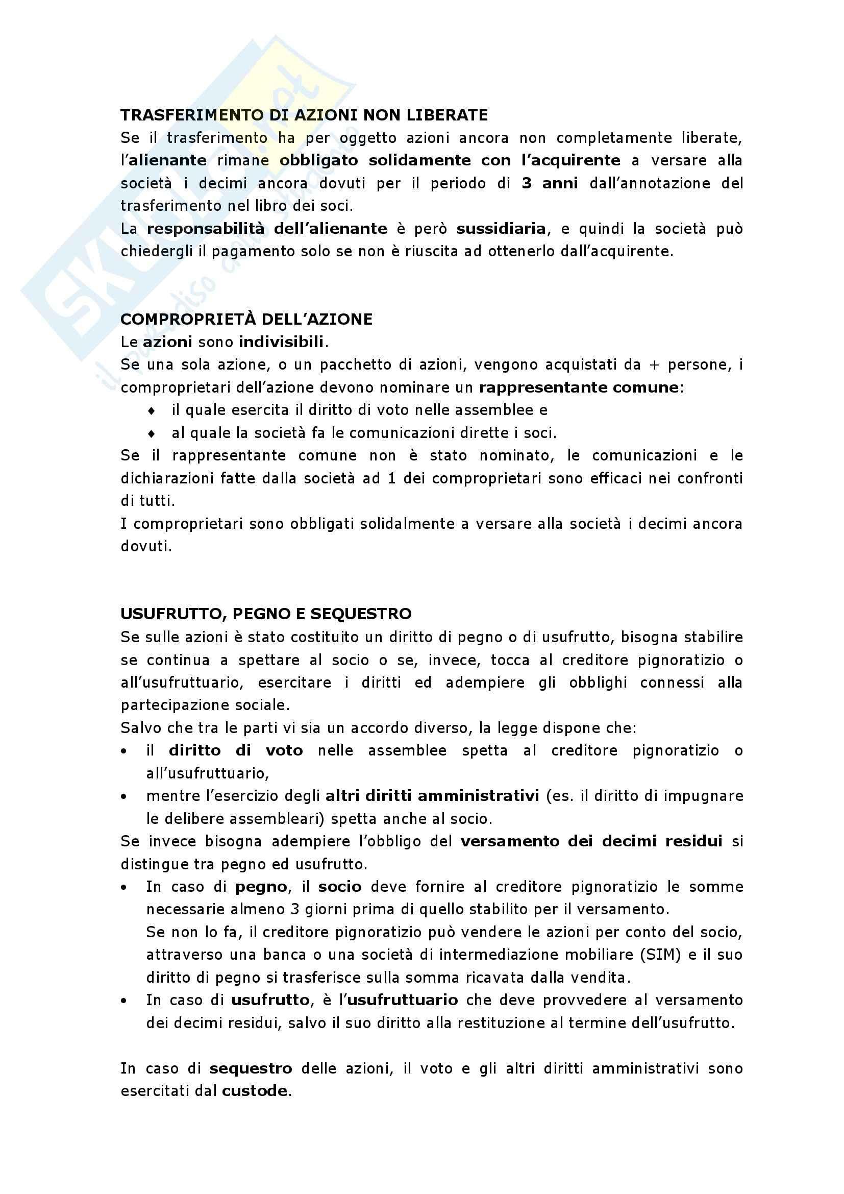 Riassunto esame Diritto commerciale,, prof. Fabbio, libro consigliato Diritto Commerciale, Auletta, Salanitro Pag. 21