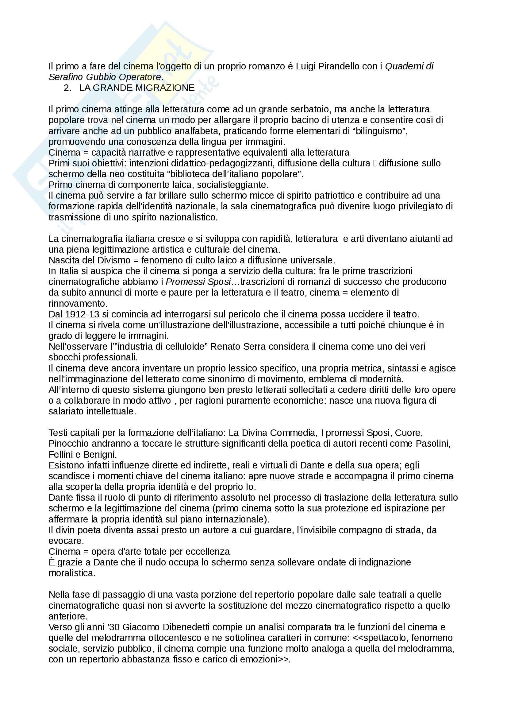 Riassunto esame Cultura italiana, prof. Martelli, libro consigliato Gli Intellettuali Italiani e il Cinema, Brunetta Pag. 2