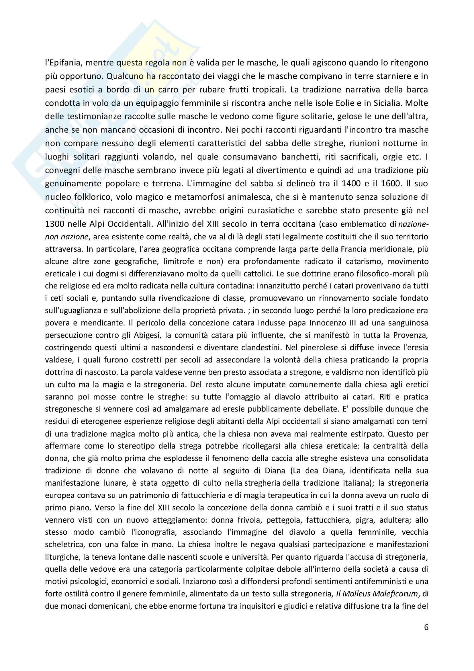 Riassunto esame Antropologia culturale, prof. Bonato, libro consigliato Vita da strega, Masca, Faja, Framasun, Bonato Pag. 6
