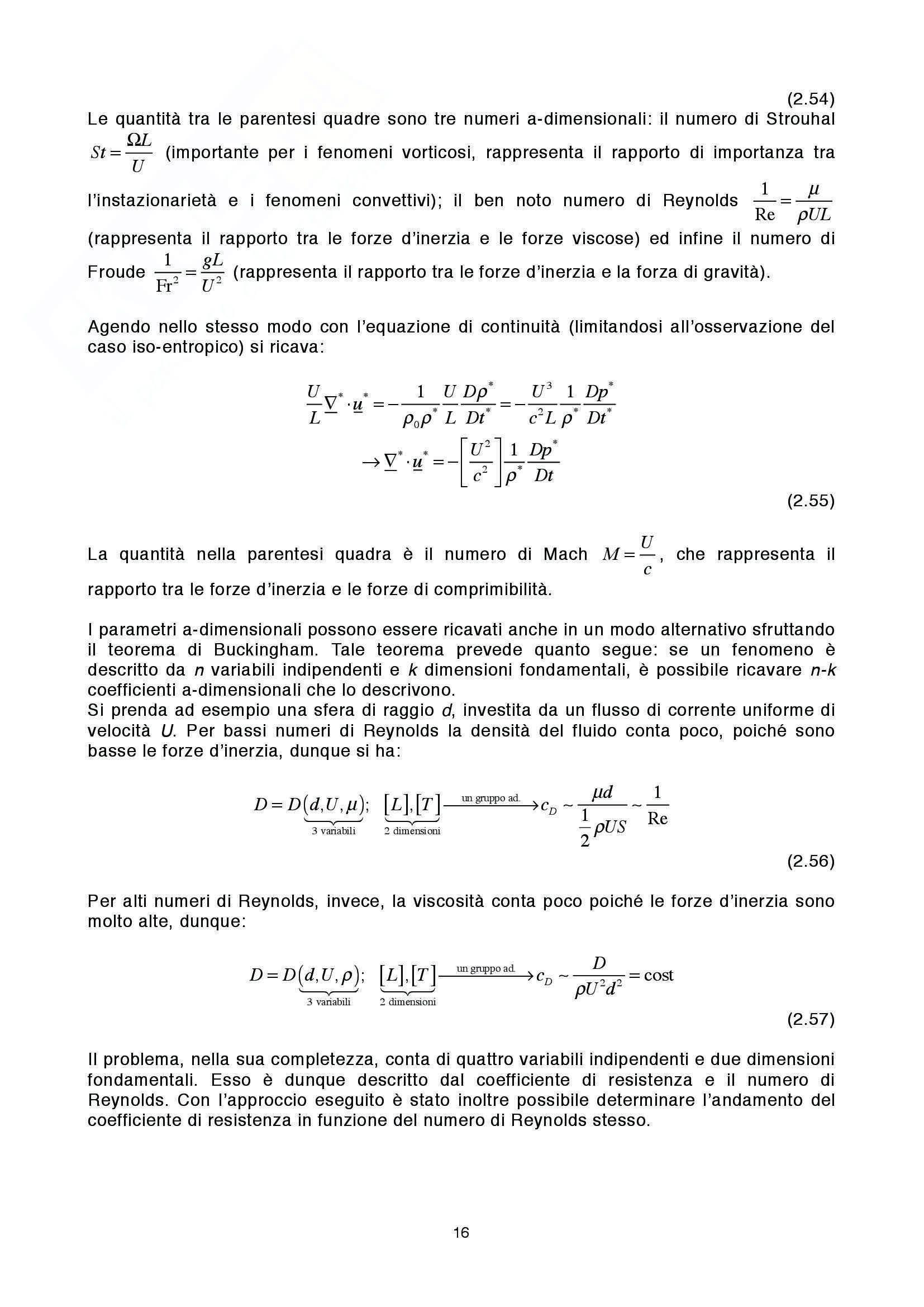 Lezioni: Appunti di Fluidodinamica Pag. 16