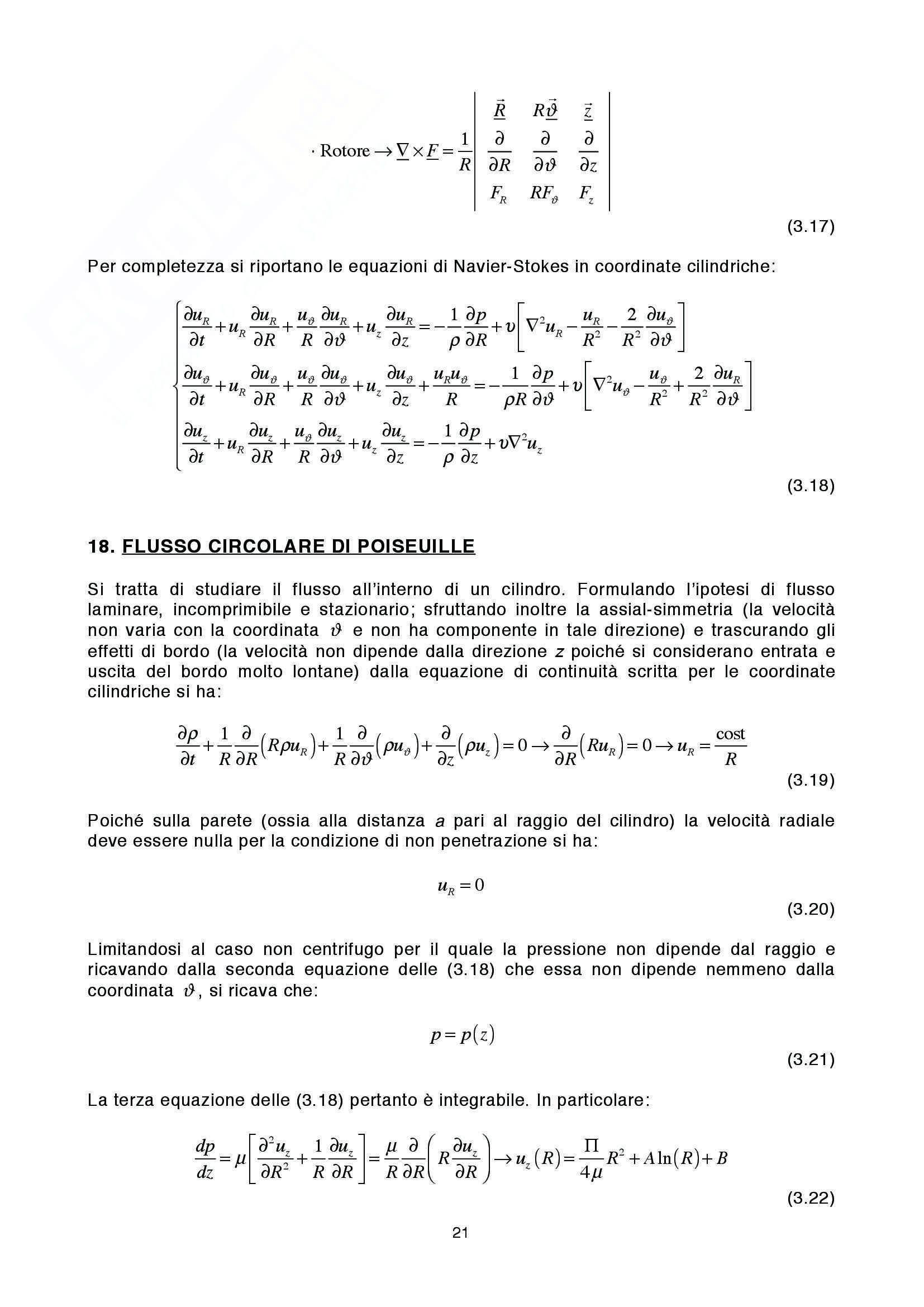 Lezioni: Appunti di Fluidodinamica Pag. 21