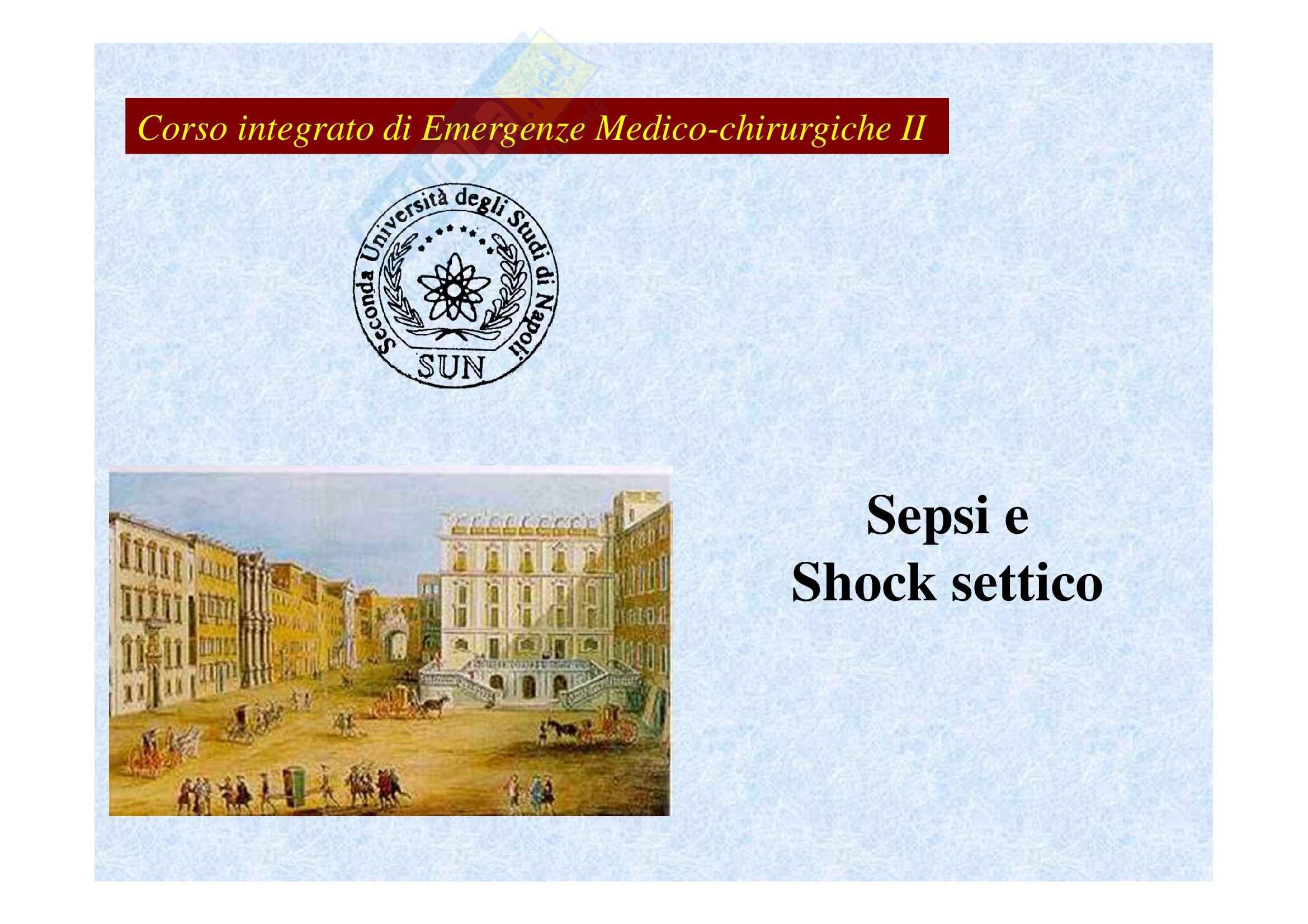 Emergenze medico-chirurgiche II - sepsi e shock settico prima parte
