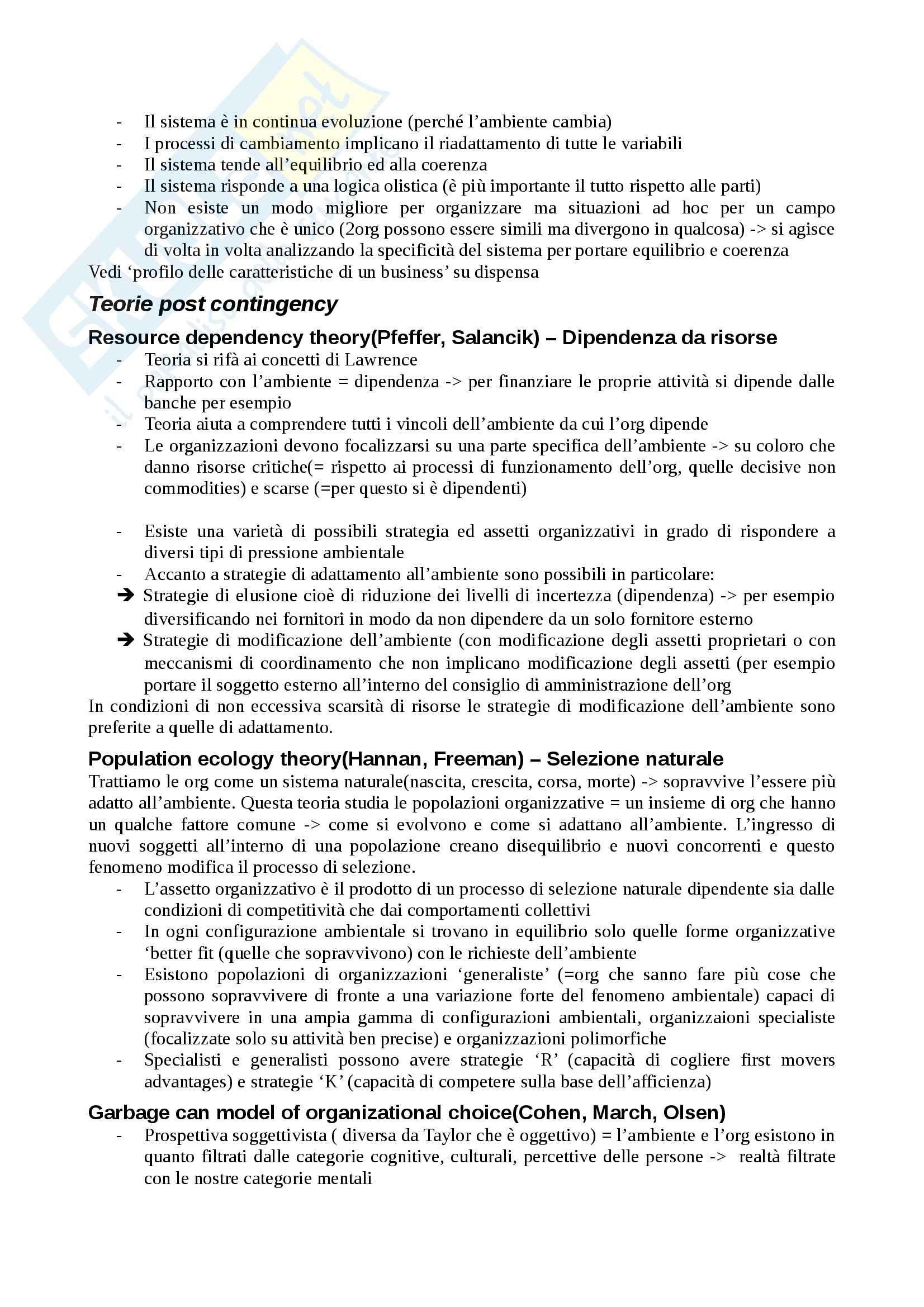 Organizzazione d'impresa - Appunti Pag. 6