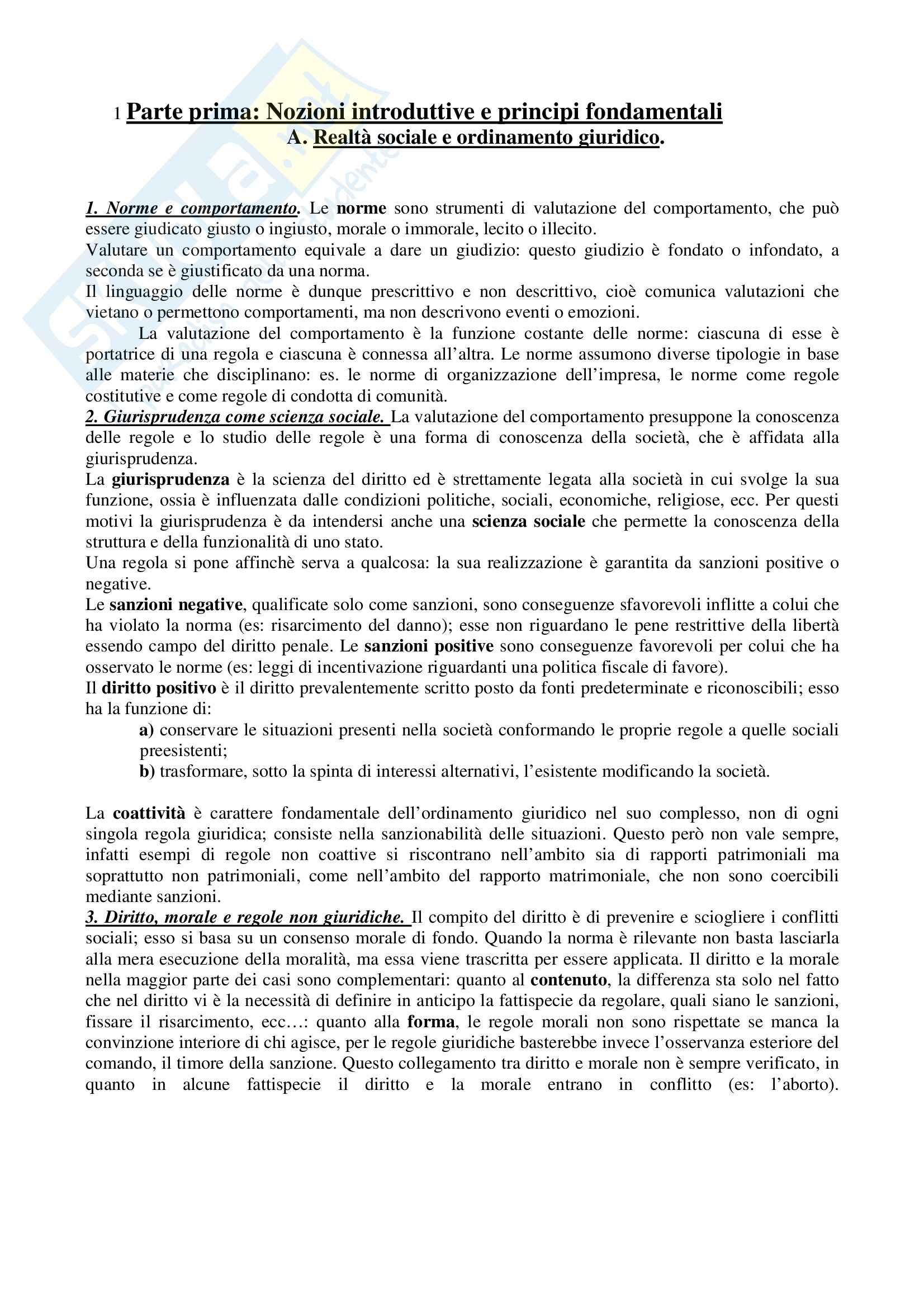 Riassunto esame Diritto Privato, prof. Valentino, libro consigliato Diritto Privato, Perlingeri