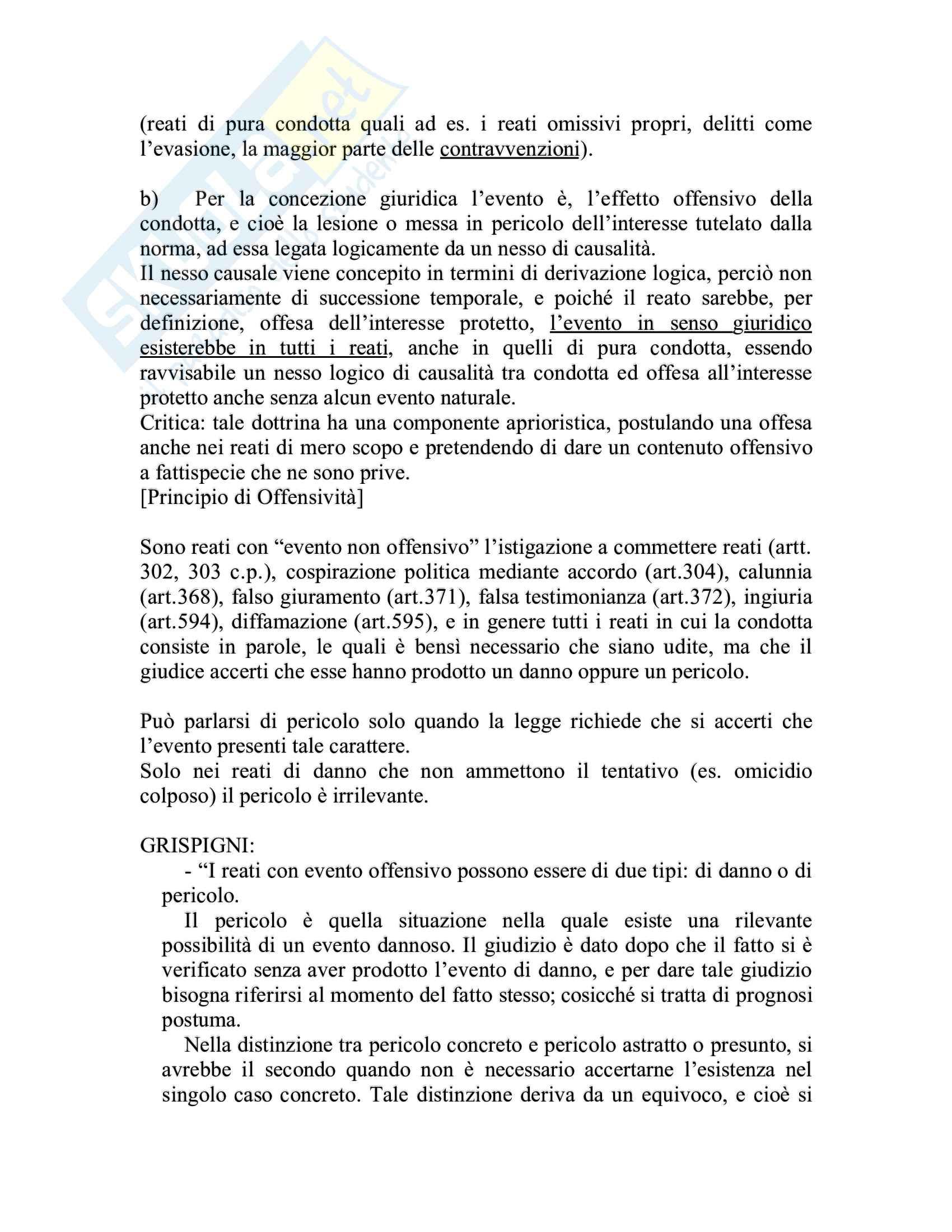 Riassunto esame Diritto penale, prof. Piergallini, libro consigliato Diritto penale, Mantovani Pag. 21