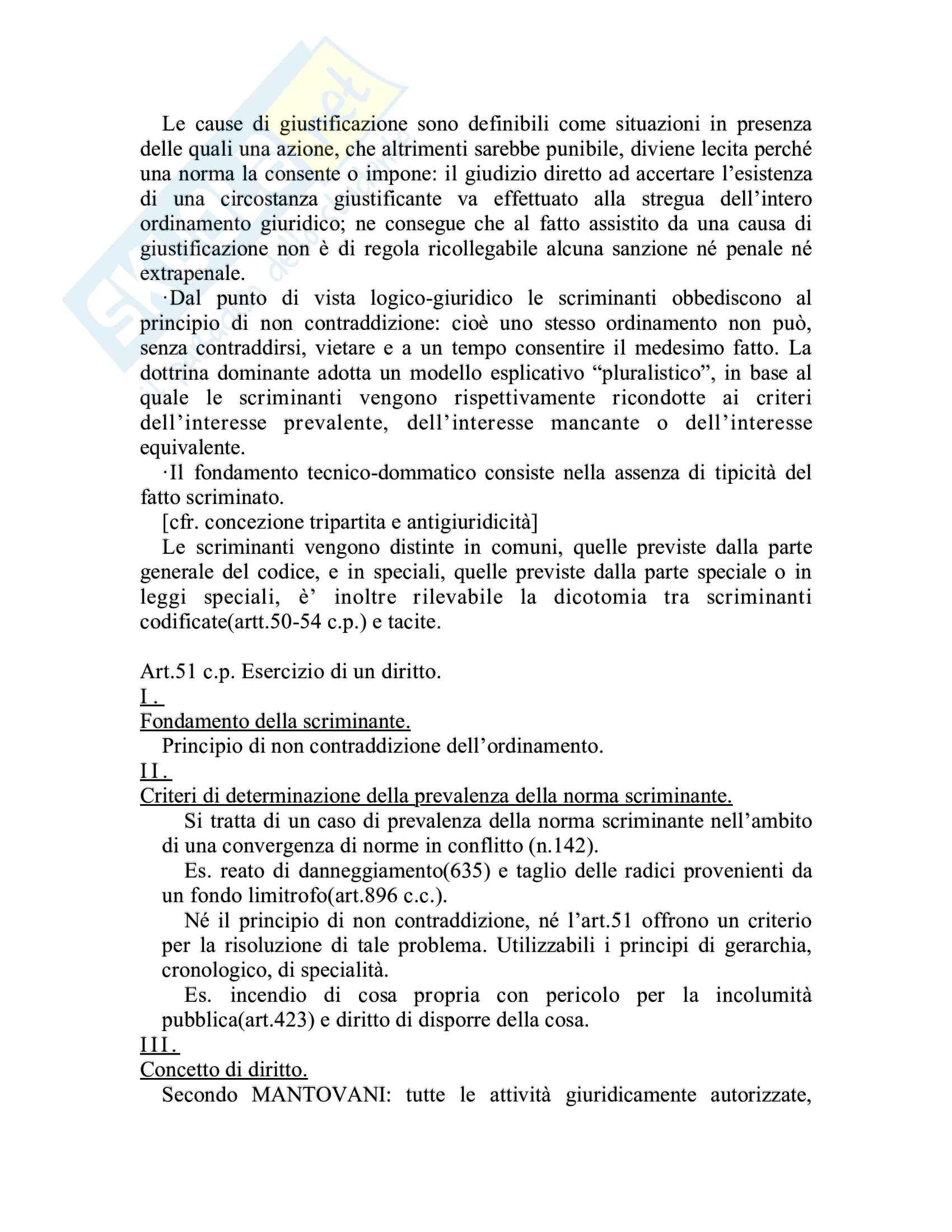 Riassunto esame Diritto penale, prof. Piergallini, libro consigliato Diritto penale, Mantovani Pag. 41