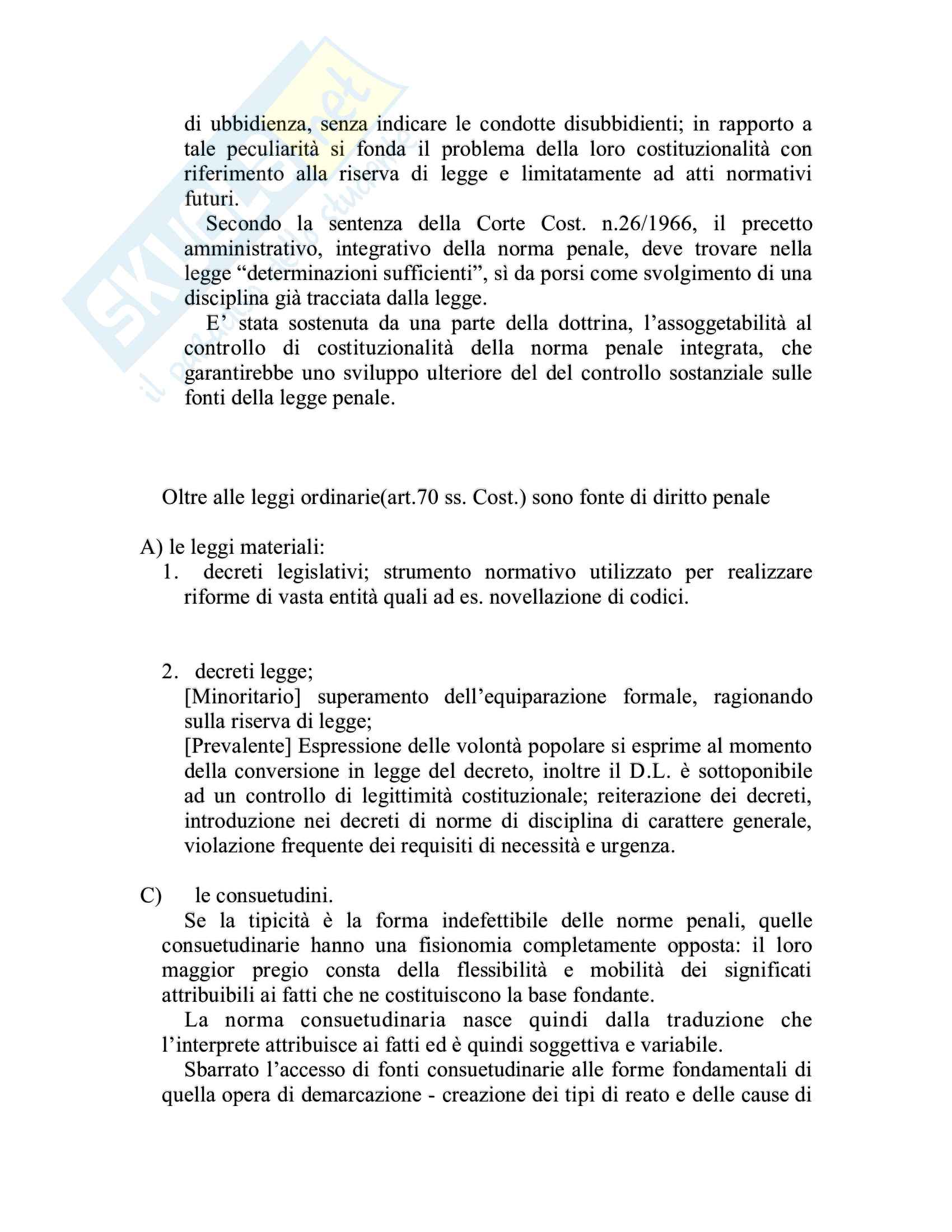 Riassunto esame Diritto penale, prof. Piergallini, libro consigliato Diritto penale, Mantovani Pag. 6