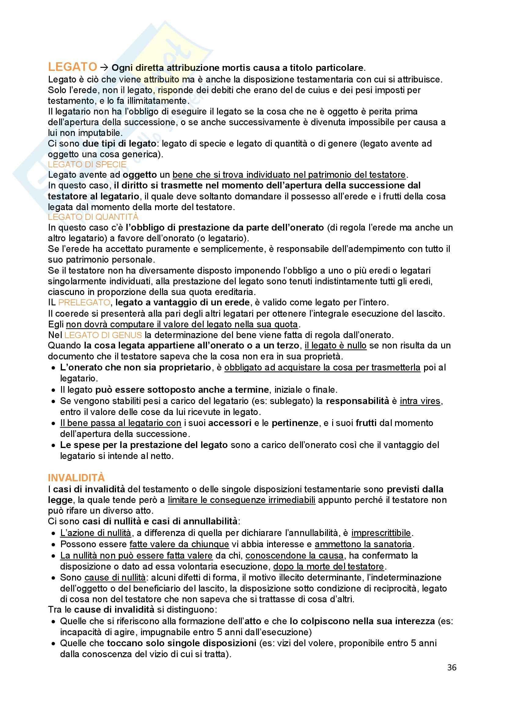 Riassunto esame Diritto Privato, prof. Troiano, libro consigliato Istituzioni di Diritto Civile, Trabucchi Pag. 36