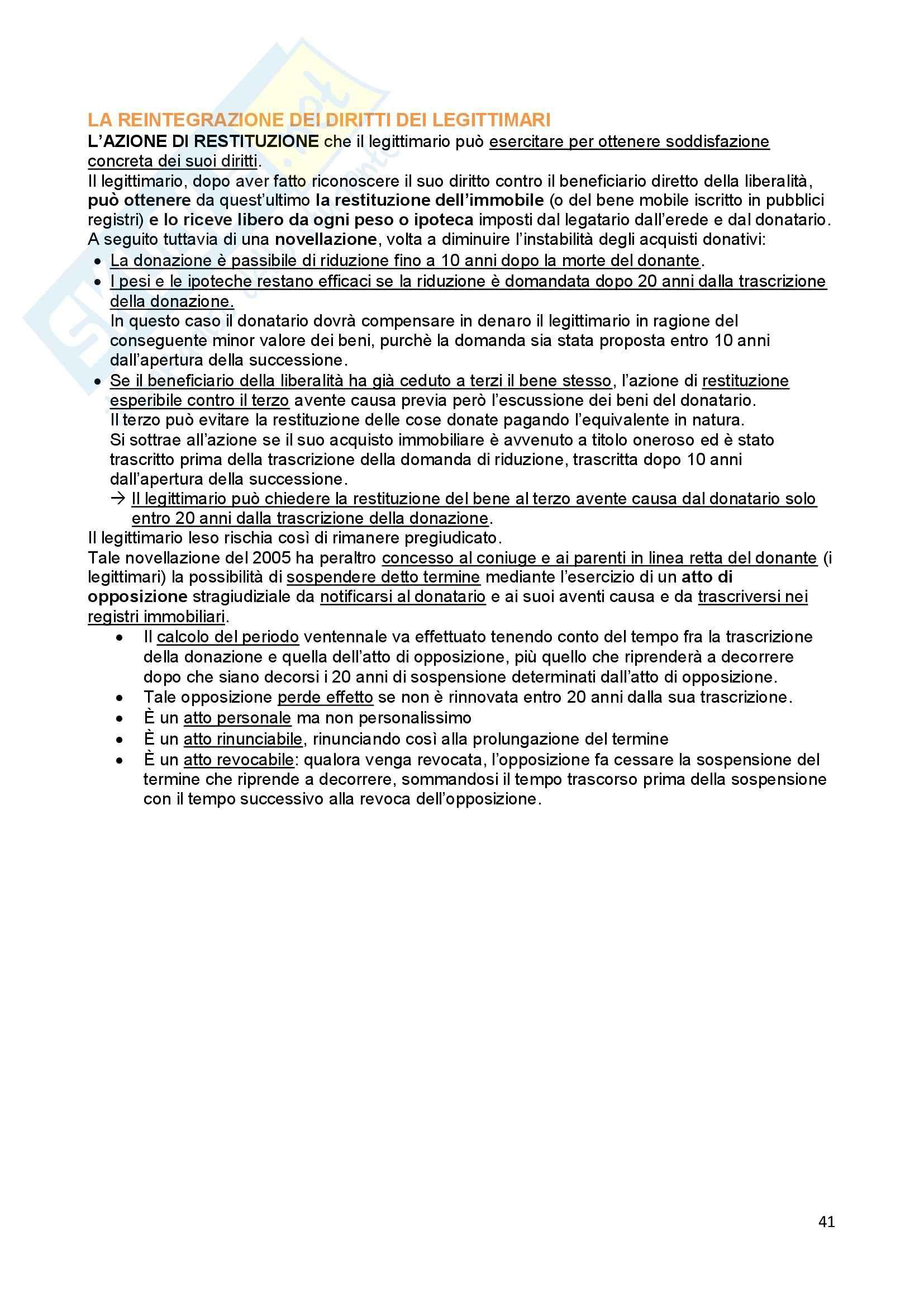 Riassunto esame Diritto Privato, prof. Troiano, libro consigliato Istituzioni di Diritto Civile, Trabucchi Pag. 41
