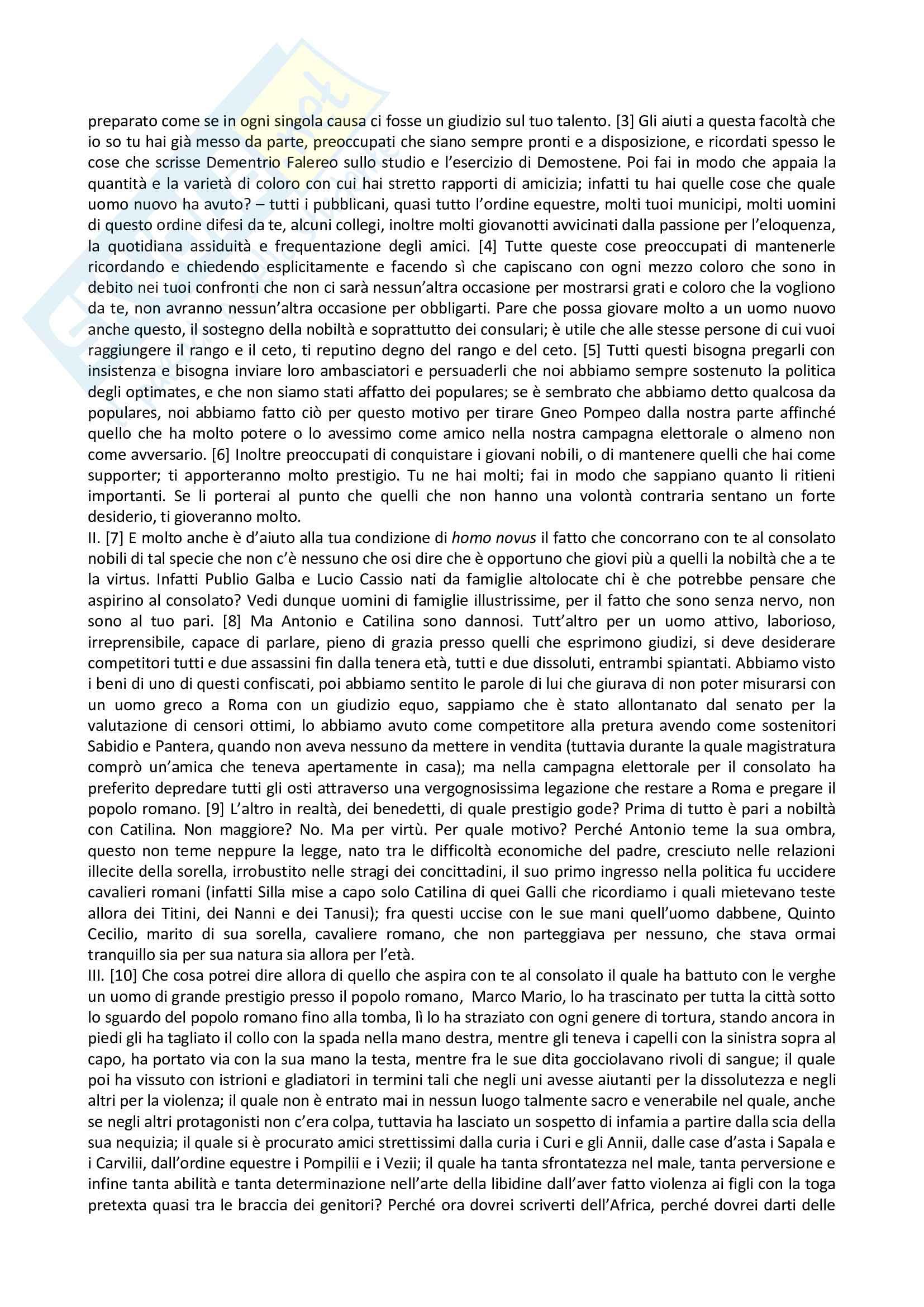 Commentariolum petitionis (Traduzione integrale e commento) Pag. 2