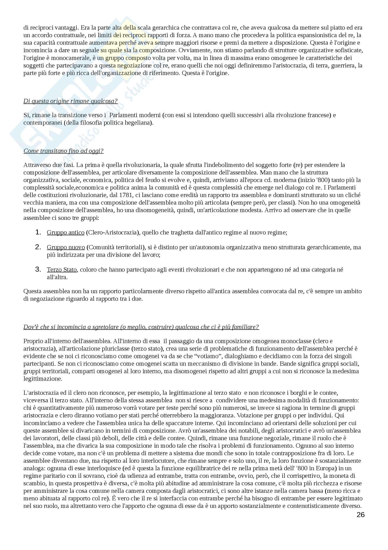 Lezioni, Diritto costituzionale comparato Pag. 26