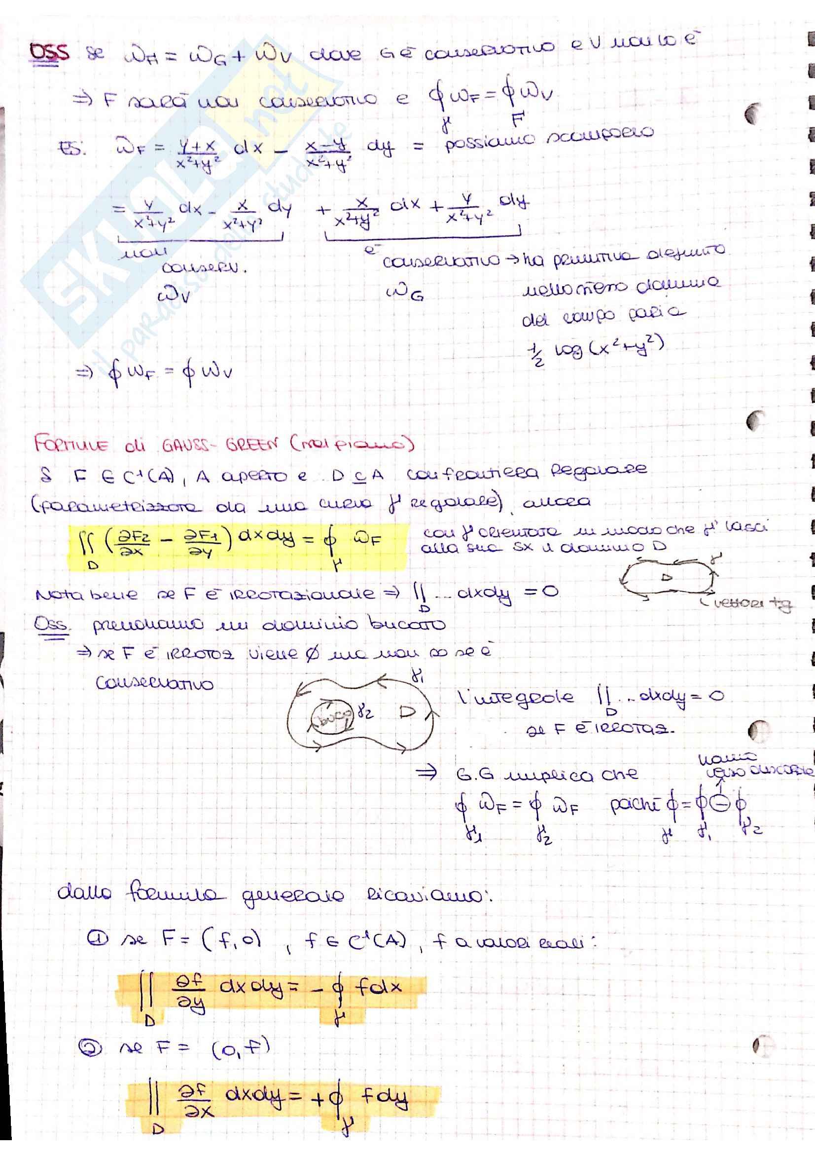 Formule di Gauss Green