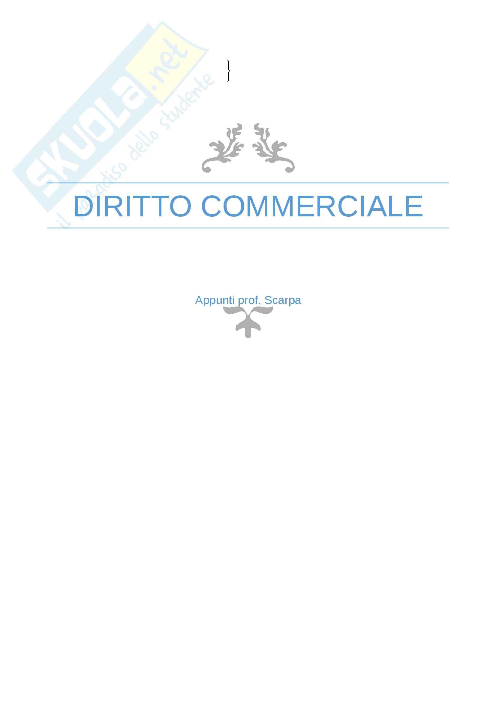Appunti Diritto commerciale