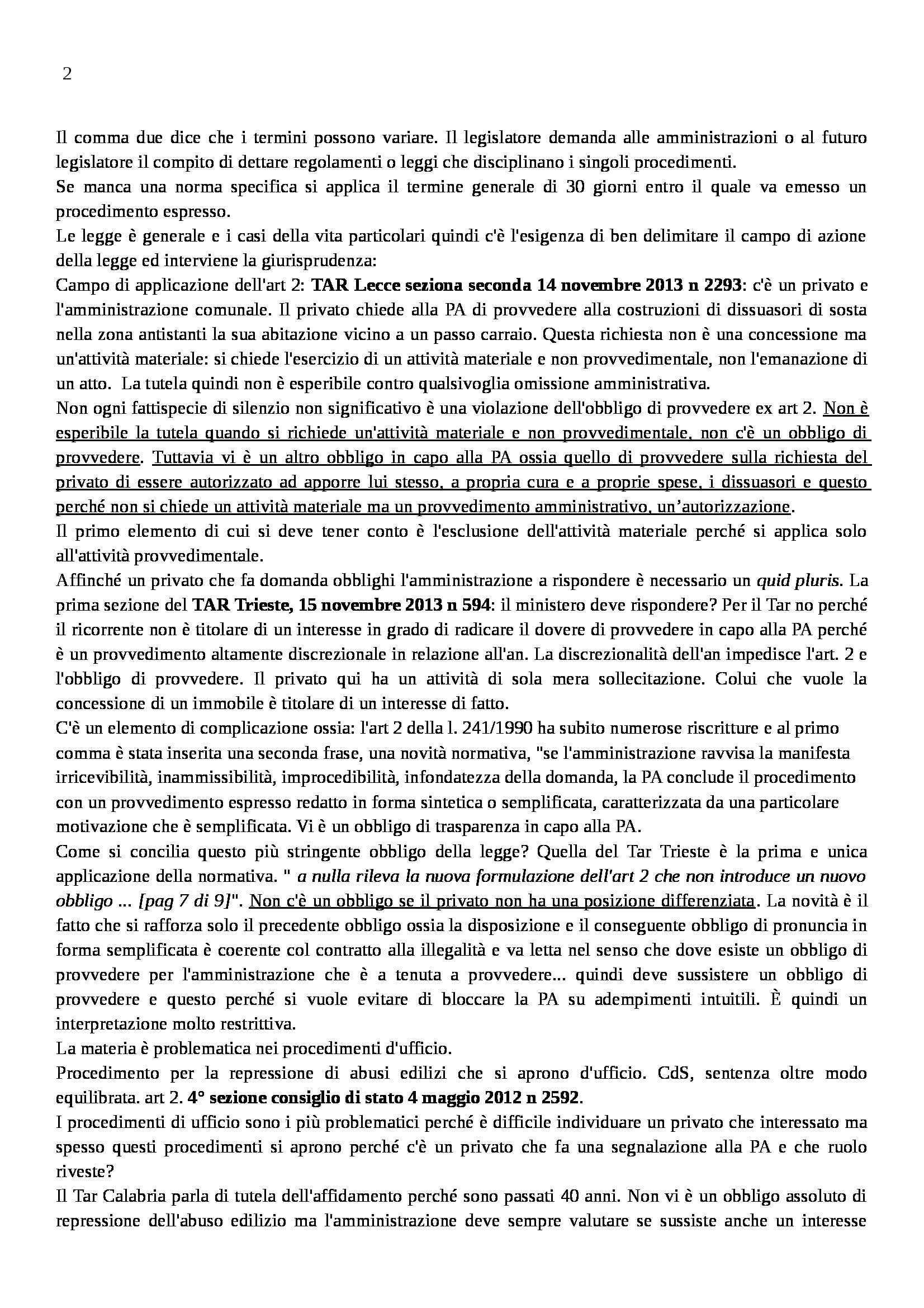 Diritto amministrativo - silenzio e scia Pag. 2