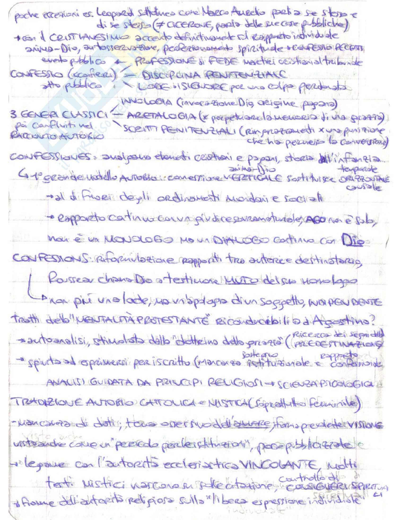 Riassunto esame Letteratura italiana, prof. D'Intino, libro consigliato Autobiografia Moderna. Storie, forme, problemi, D'intino Pag. 2