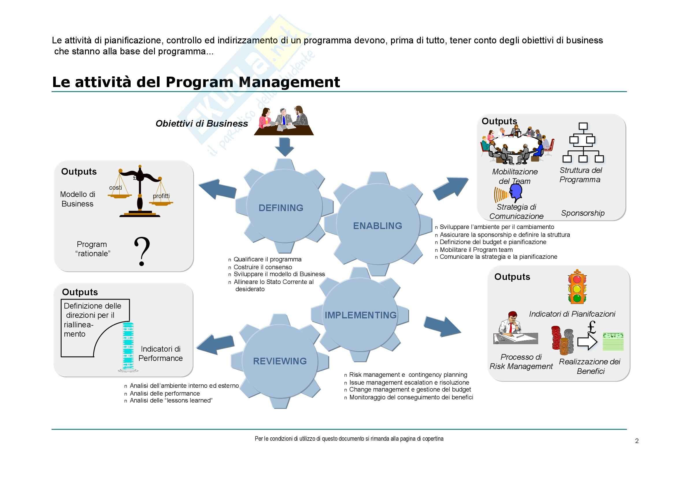 Economia ed organizzazione aziendale - gestione dei progetti Pag. 2