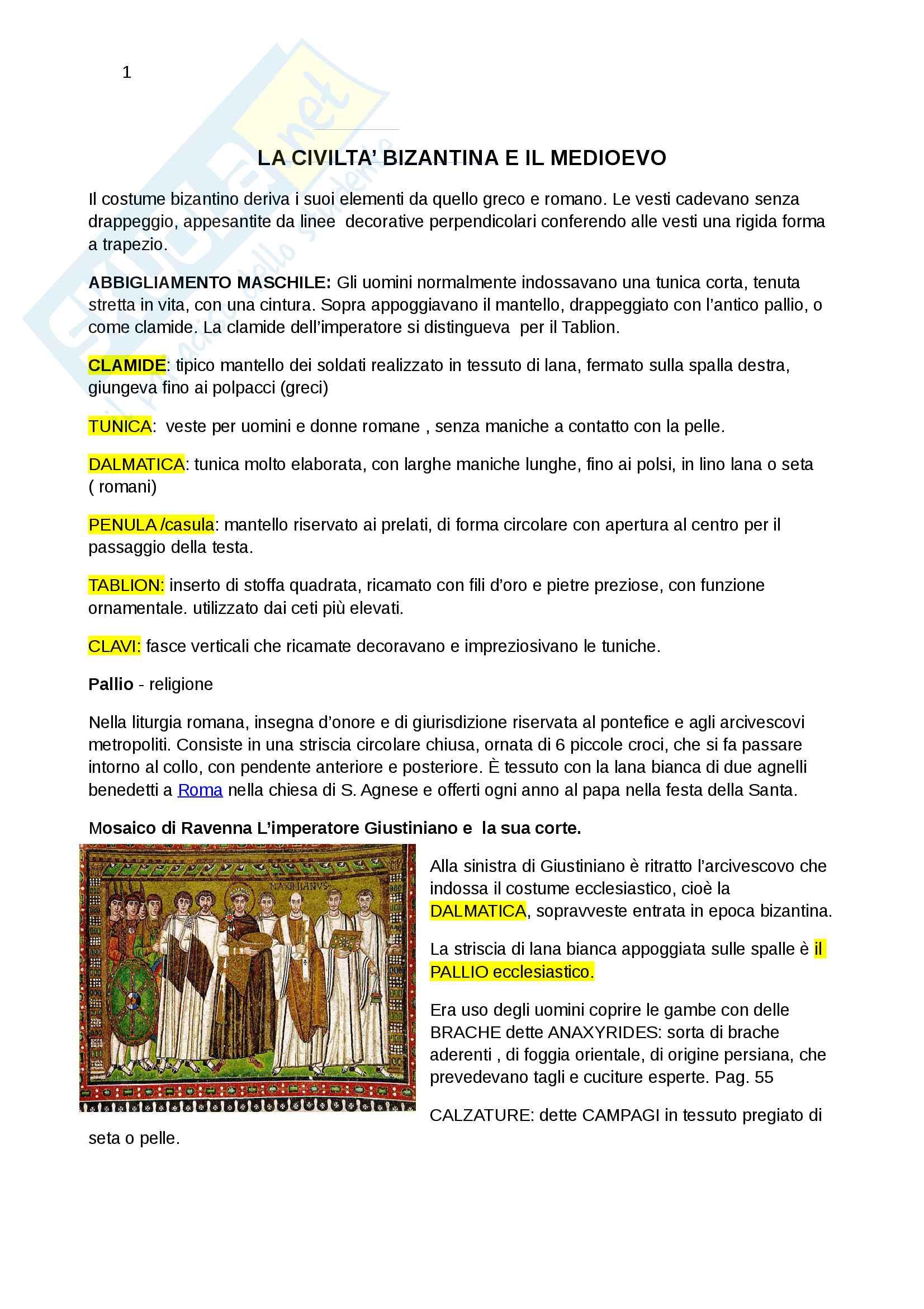 Riassunto esame storia del costume e della moda, prof.ssa Muzzarelli, libro Storia della moda e del costume, Maugeri